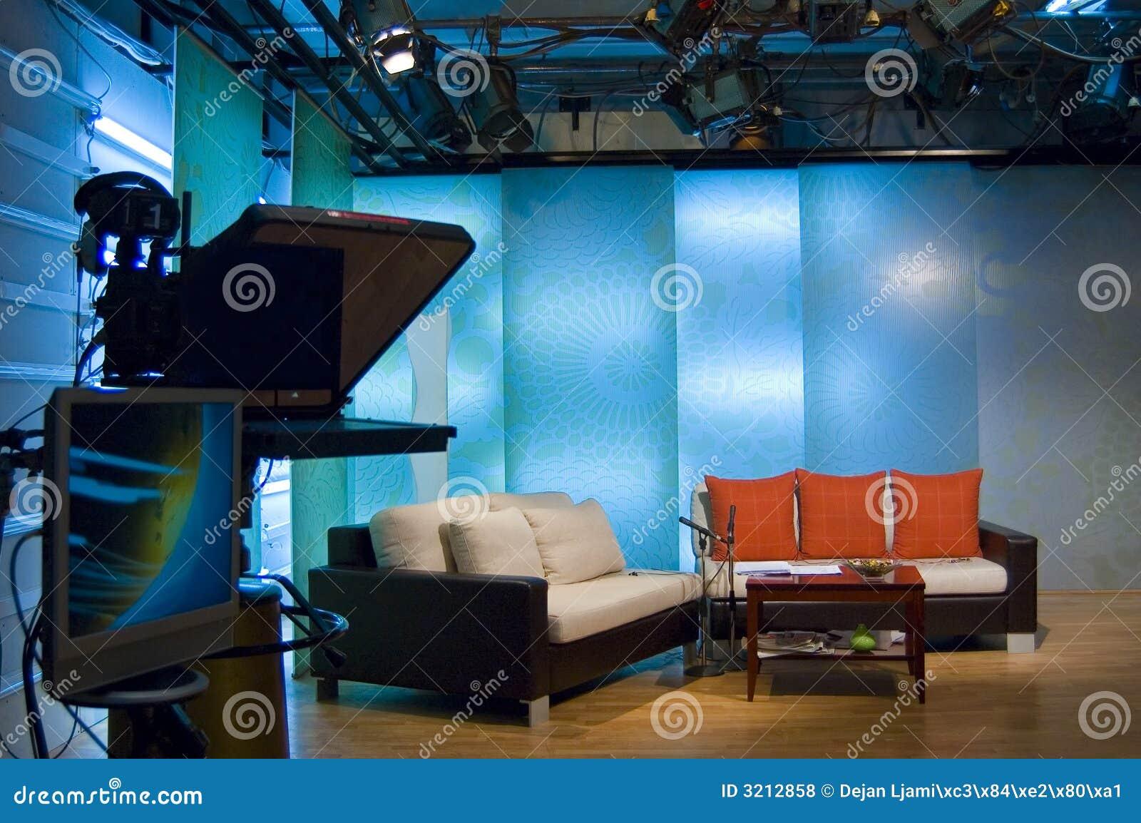 TV studio and lights
