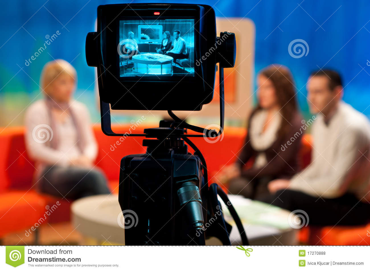 Tv studio video camera viewfinder editorial stock photo - Tv in camera ...