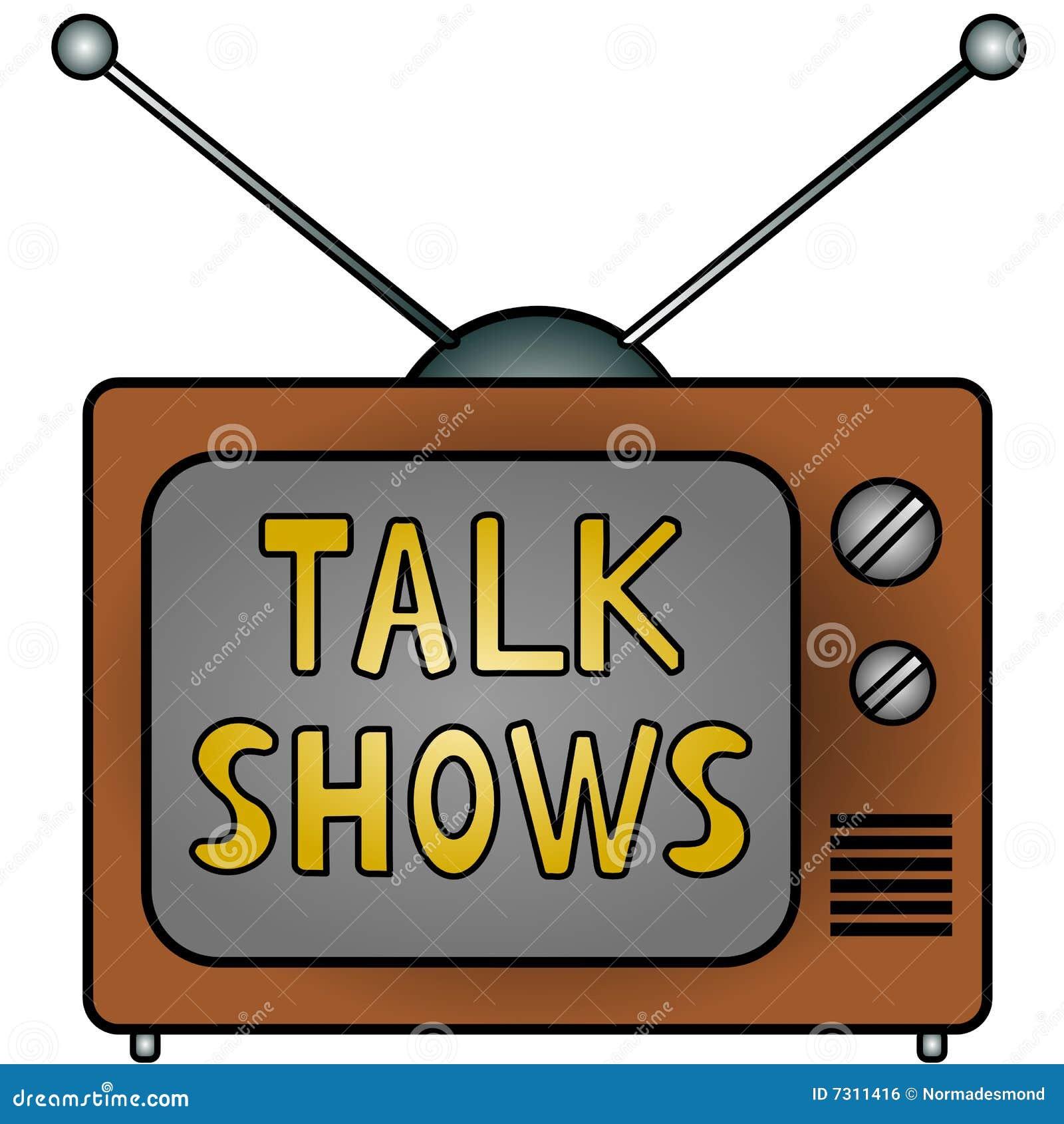 TV Talk Shows stock il...