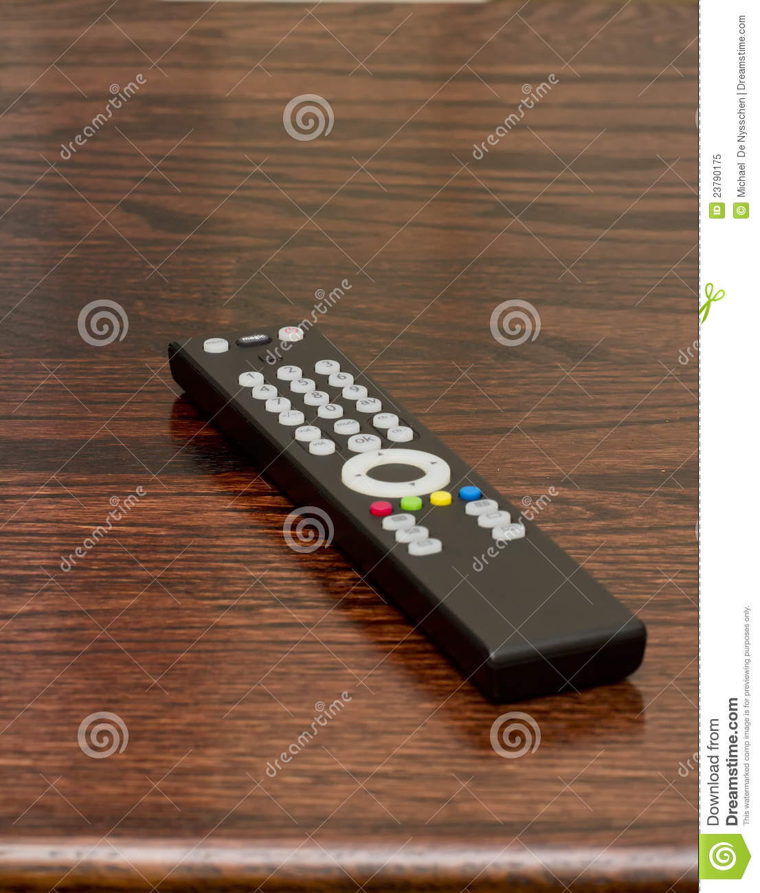 TV Or Television Remote On Table Stock Image - Image of
