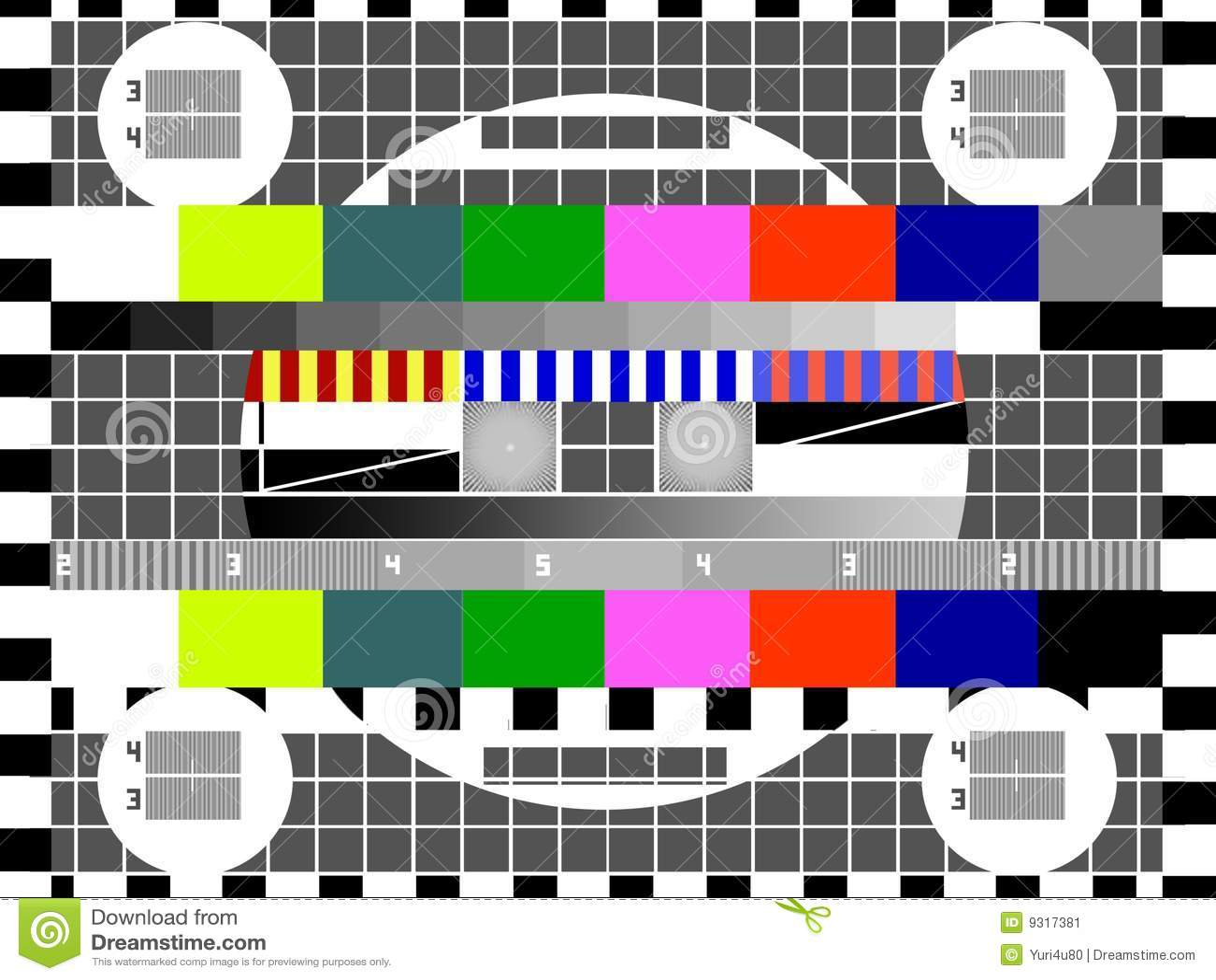 TV Test Screen Stock Image - Image: 9317381