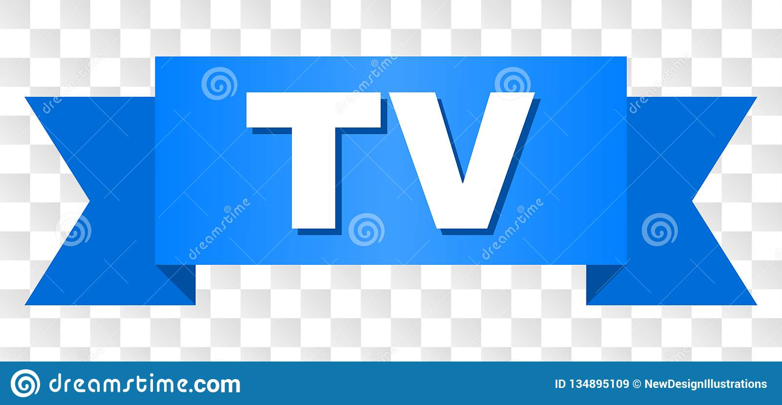 Blue Stripe with TV Text