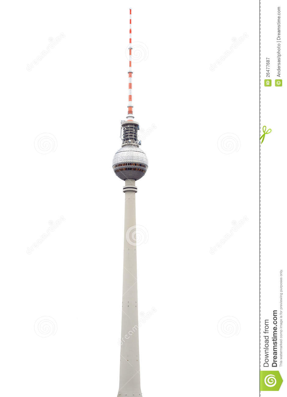 Broadcast Tower Vector Tv Tower In Berlin On ...