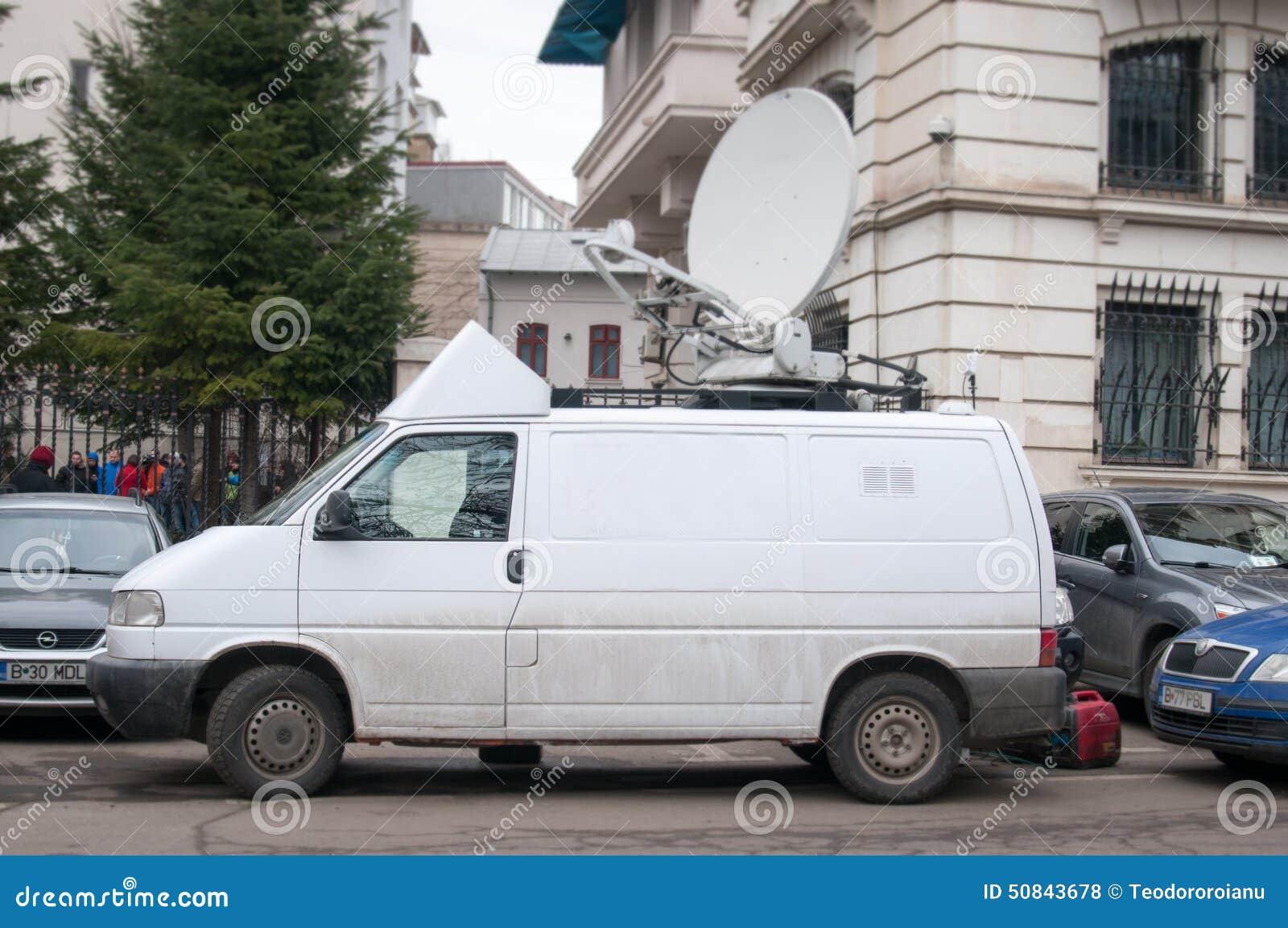 tv van editorial stock photo. image of transmitting, signal - 50843678