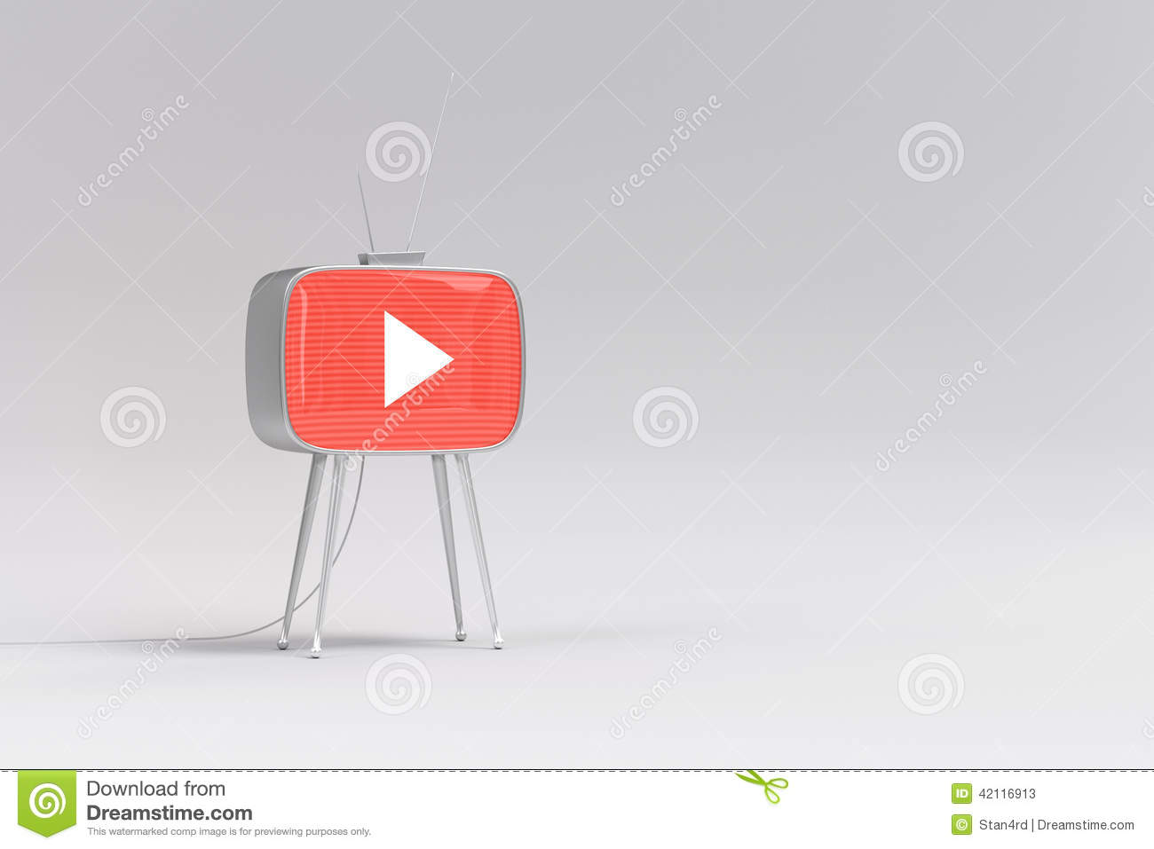 Tv Youtube Stock Illustration Illustration Of Style 42116913