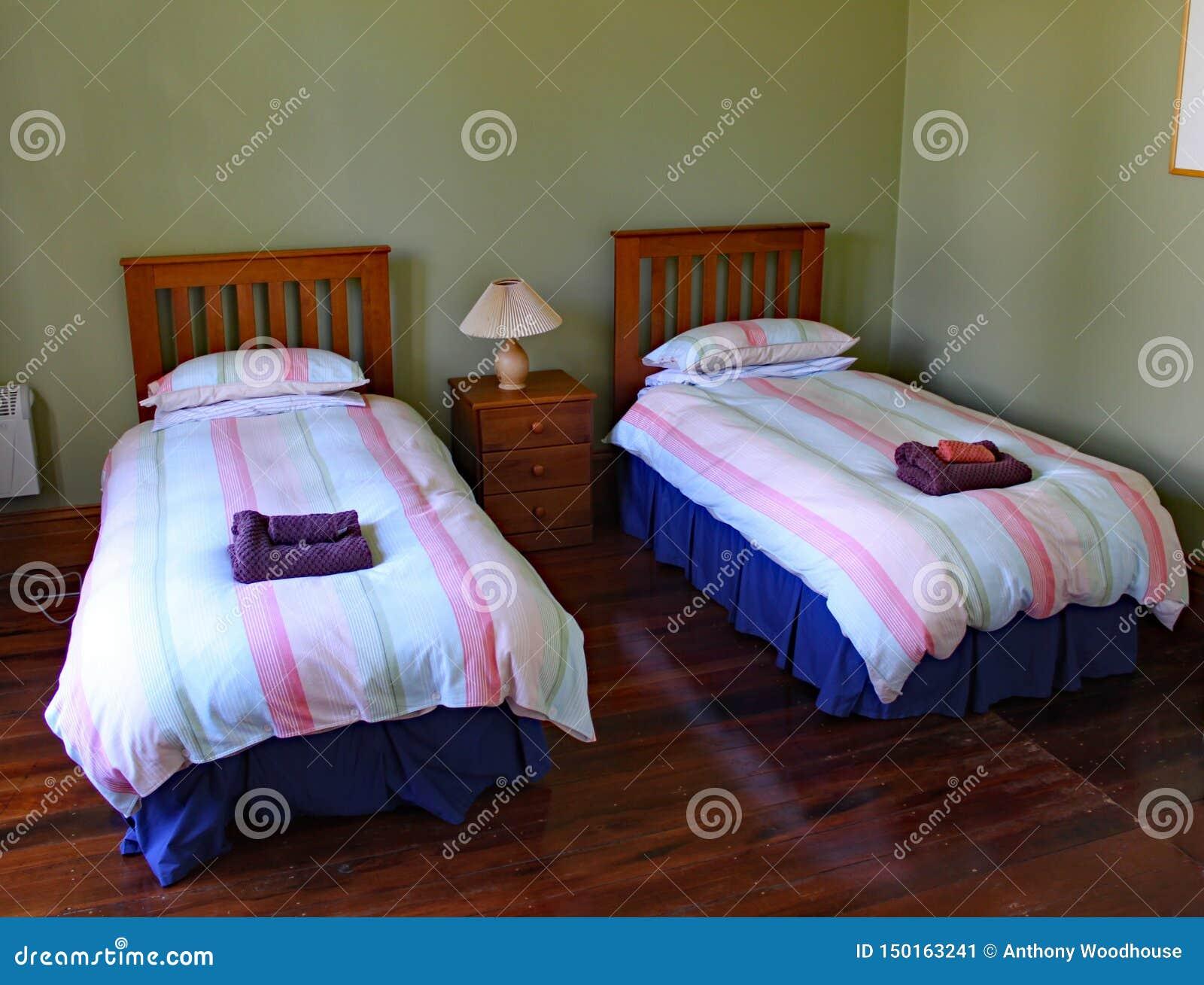 Tvilling- sängar i en besynnerlig uthyrnings- egenskap i Masterton i Nya Zeeland
