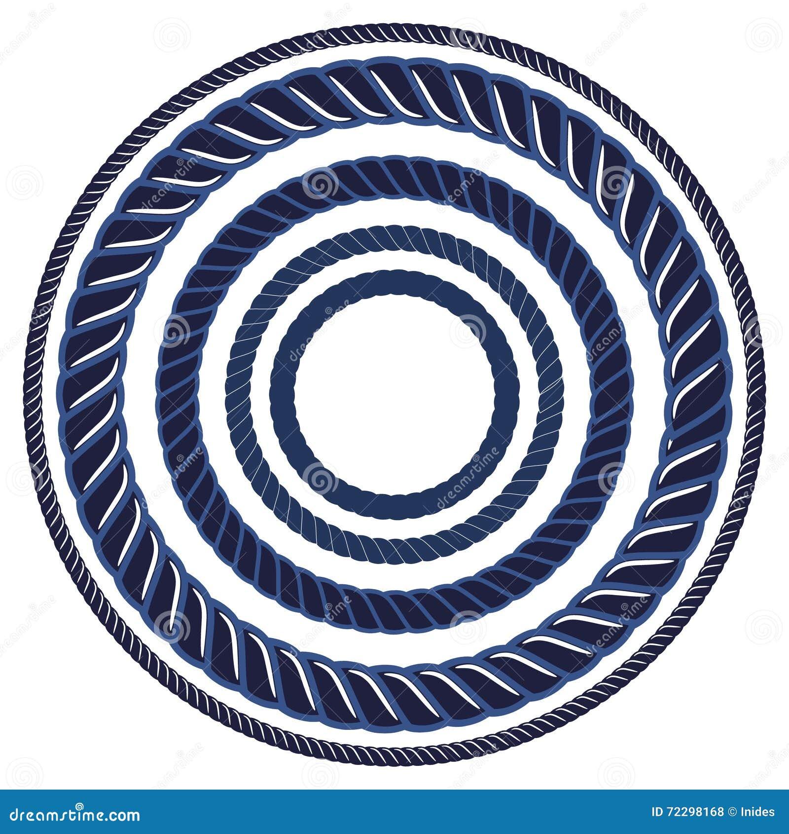 Tvinna den marinblåa marin- borsten för repet Modellradgräns