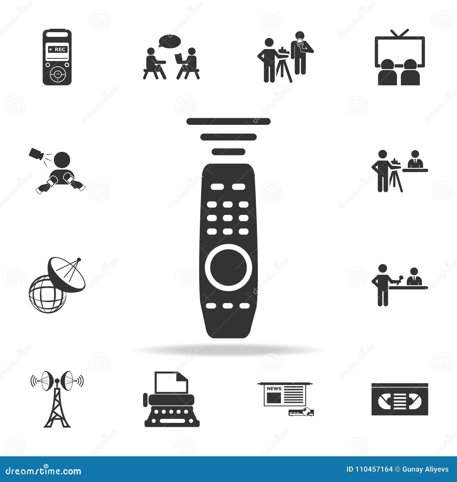 Tvkontrollsymbol Detaljerade uppsättningsymboler av massmediabeståndsdelsymbolen Högvärdig kvalitets- grafisk design En av samlin