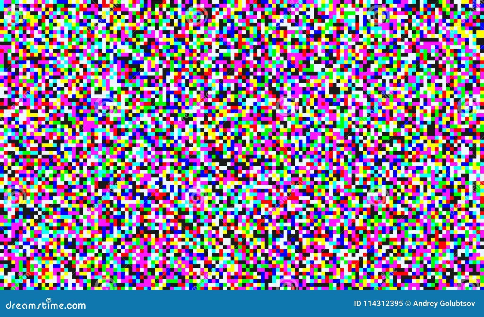 TVPIXELoväsen av för kornskärm för parallell kanal sömlös bakgrund Vektortekniskt feleffekt av video snöstörning