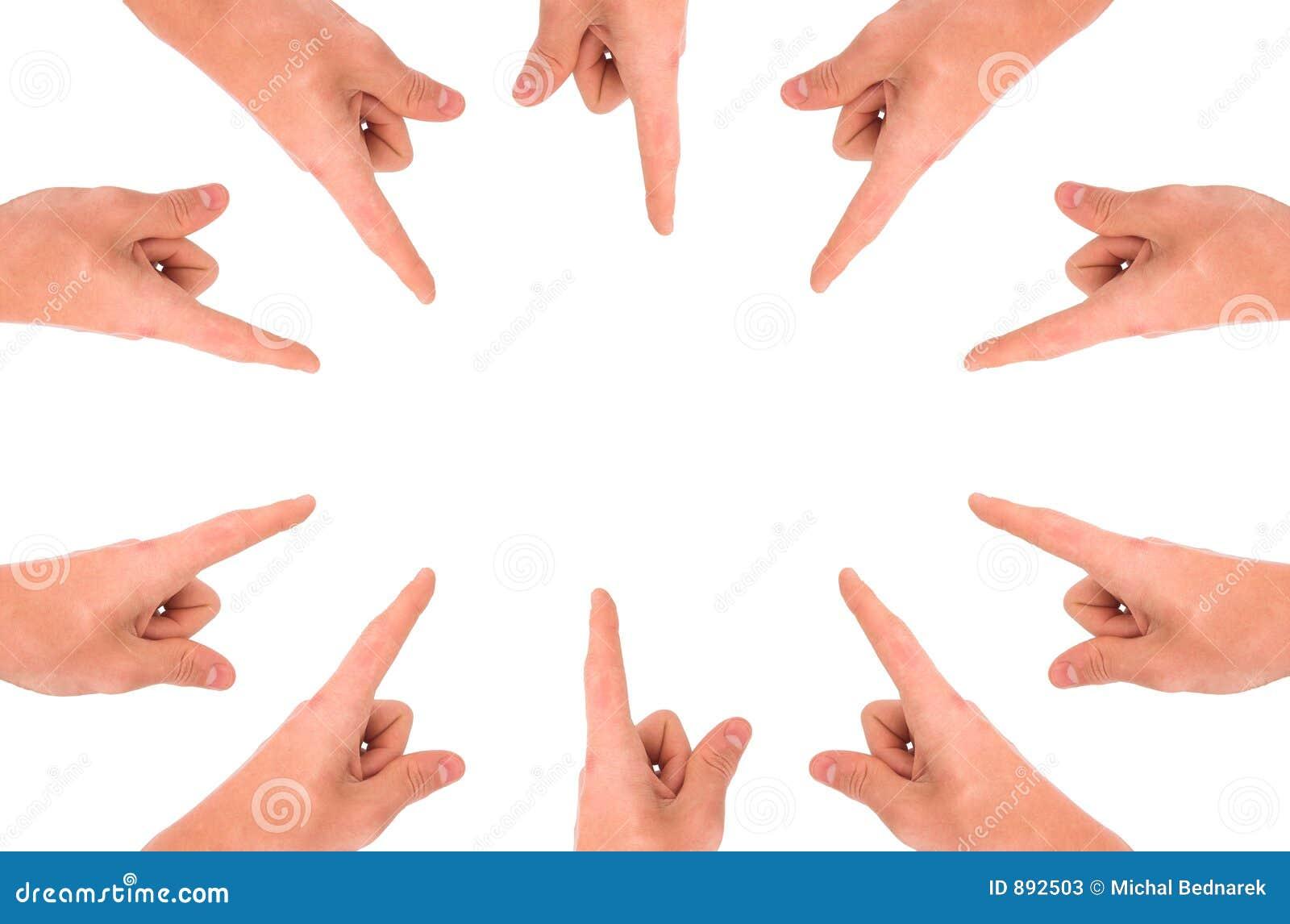 Twój produkt wskazany ręce