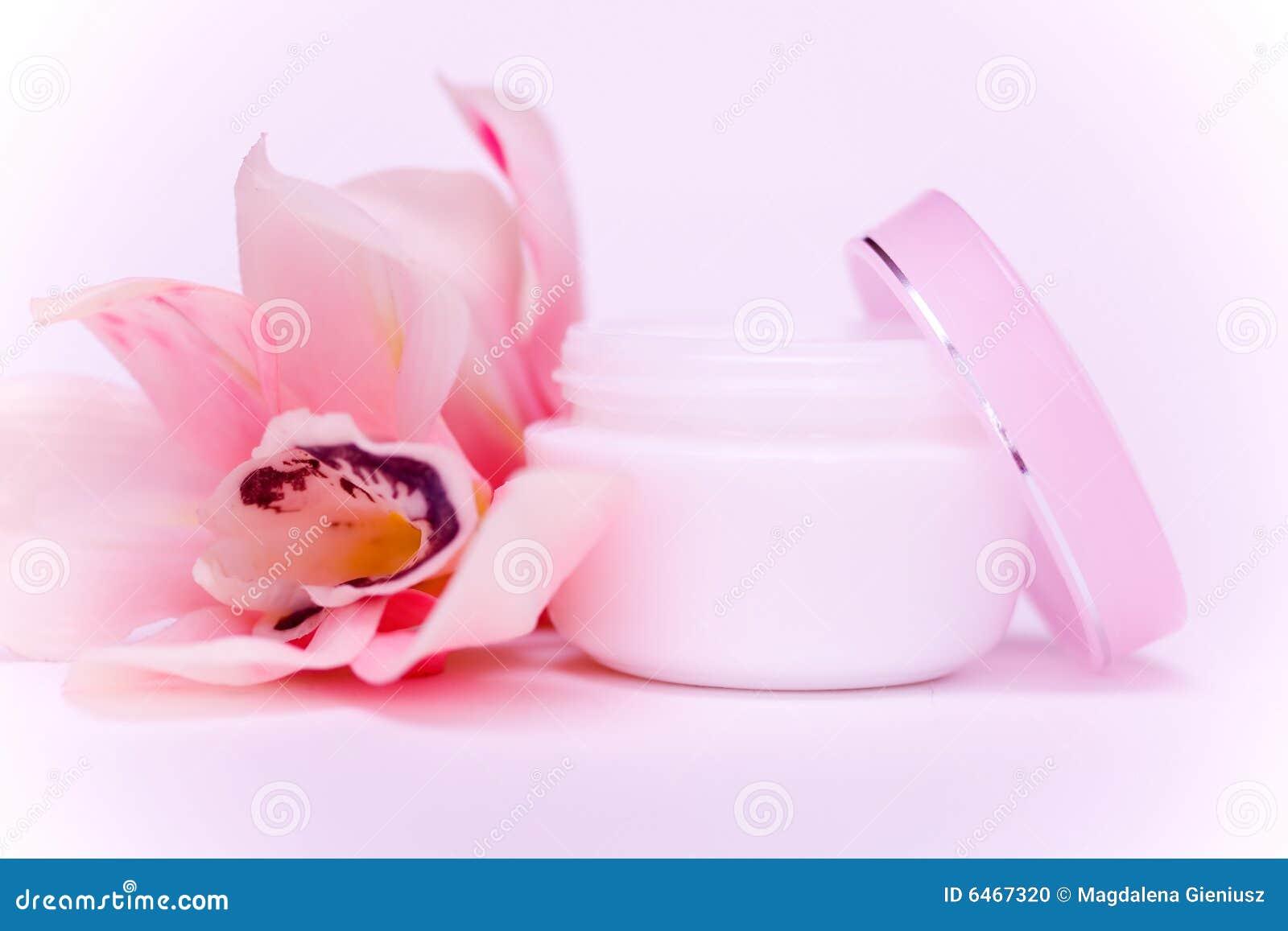 Twarz śmietanki orchideę różowy
