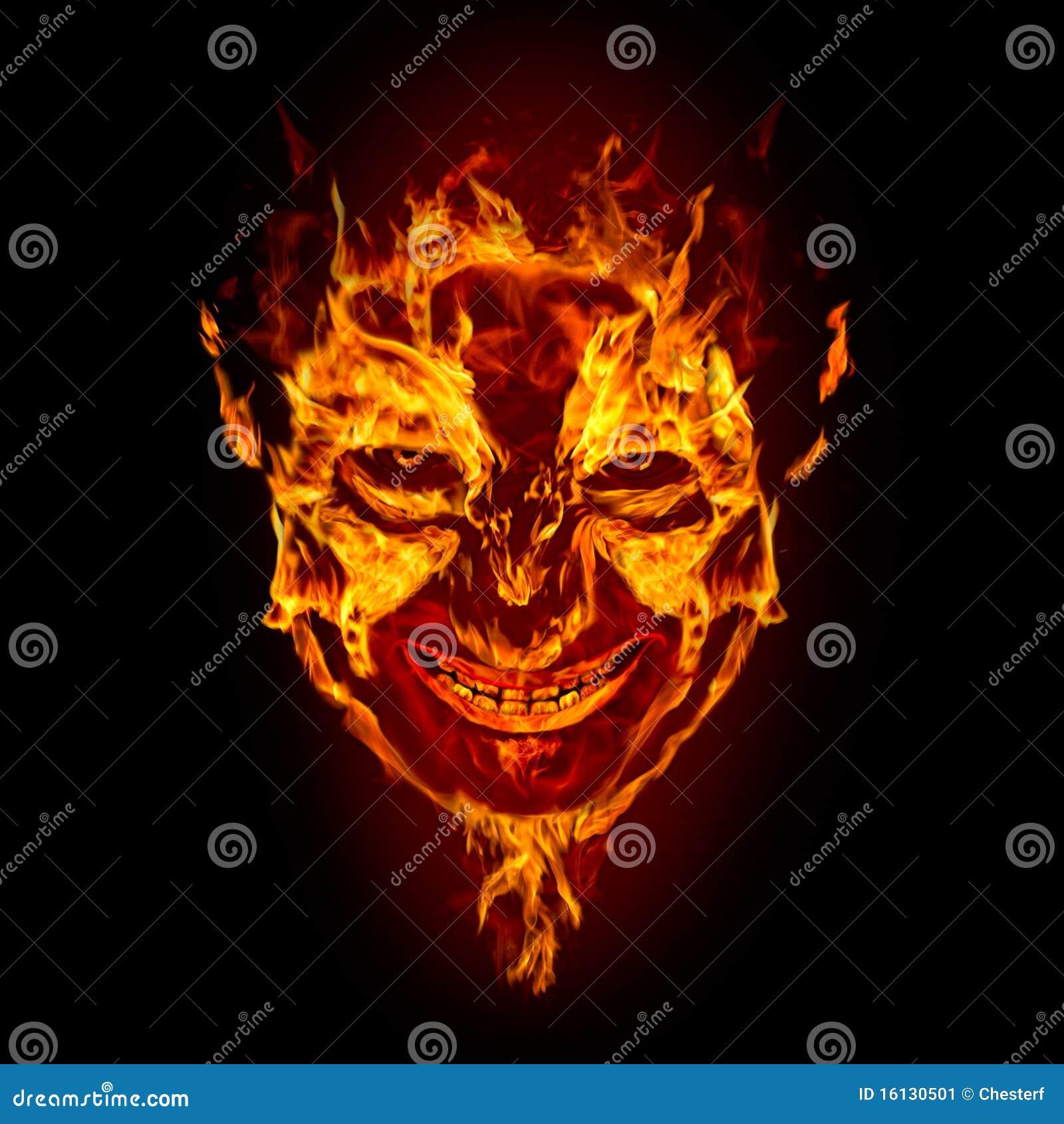 Twarz czarci ogień