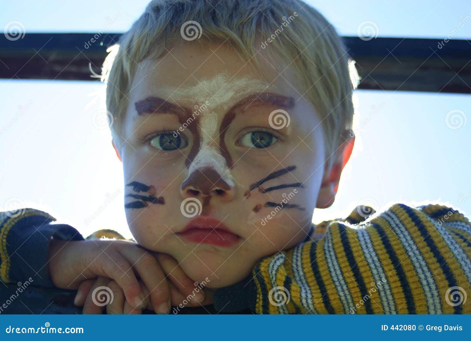 Twarz Płótna Zdjęcie Stock Obraz Złożonej Z Słońce Potomstwa 442080