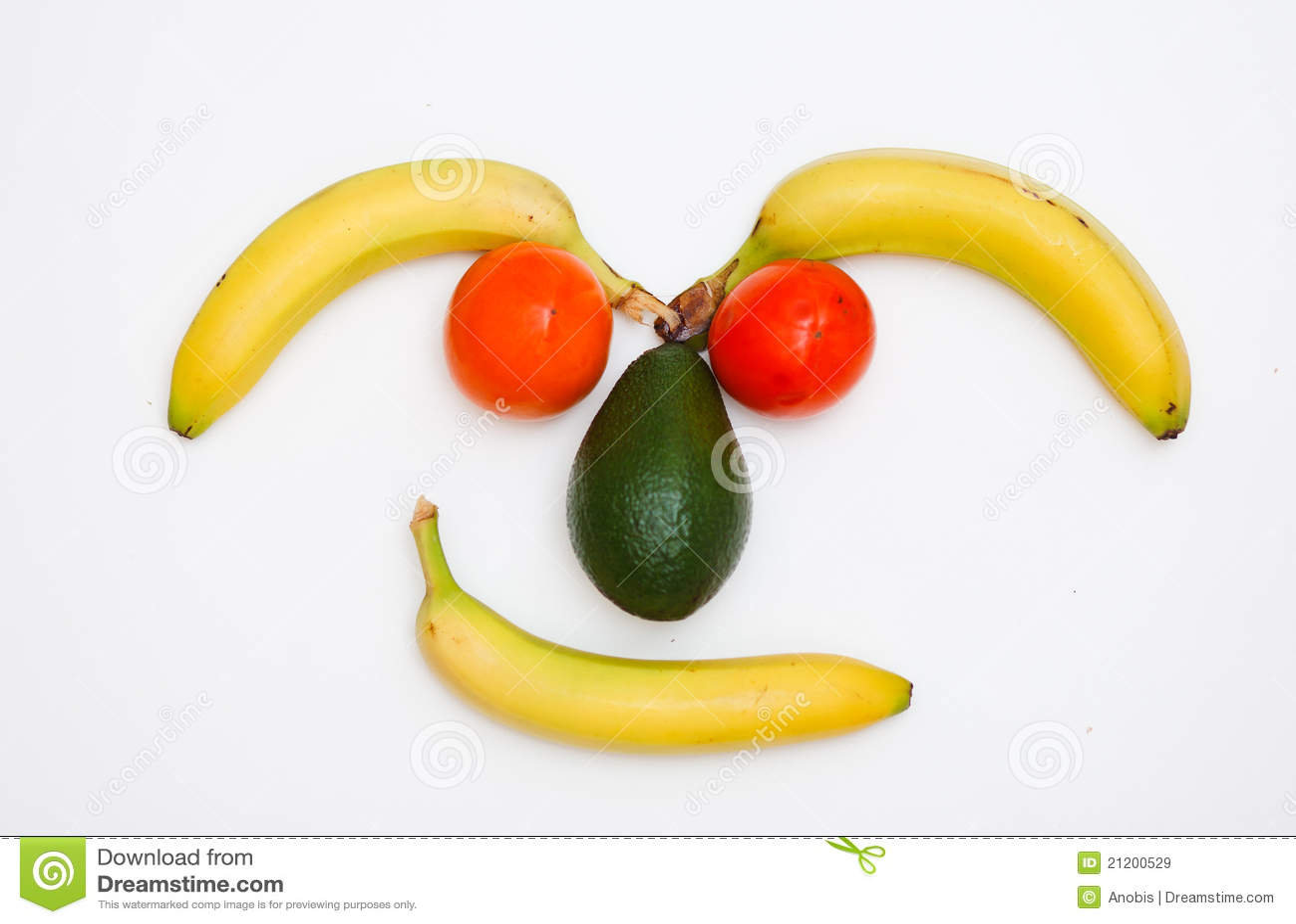 Twarzy owoc zrobili