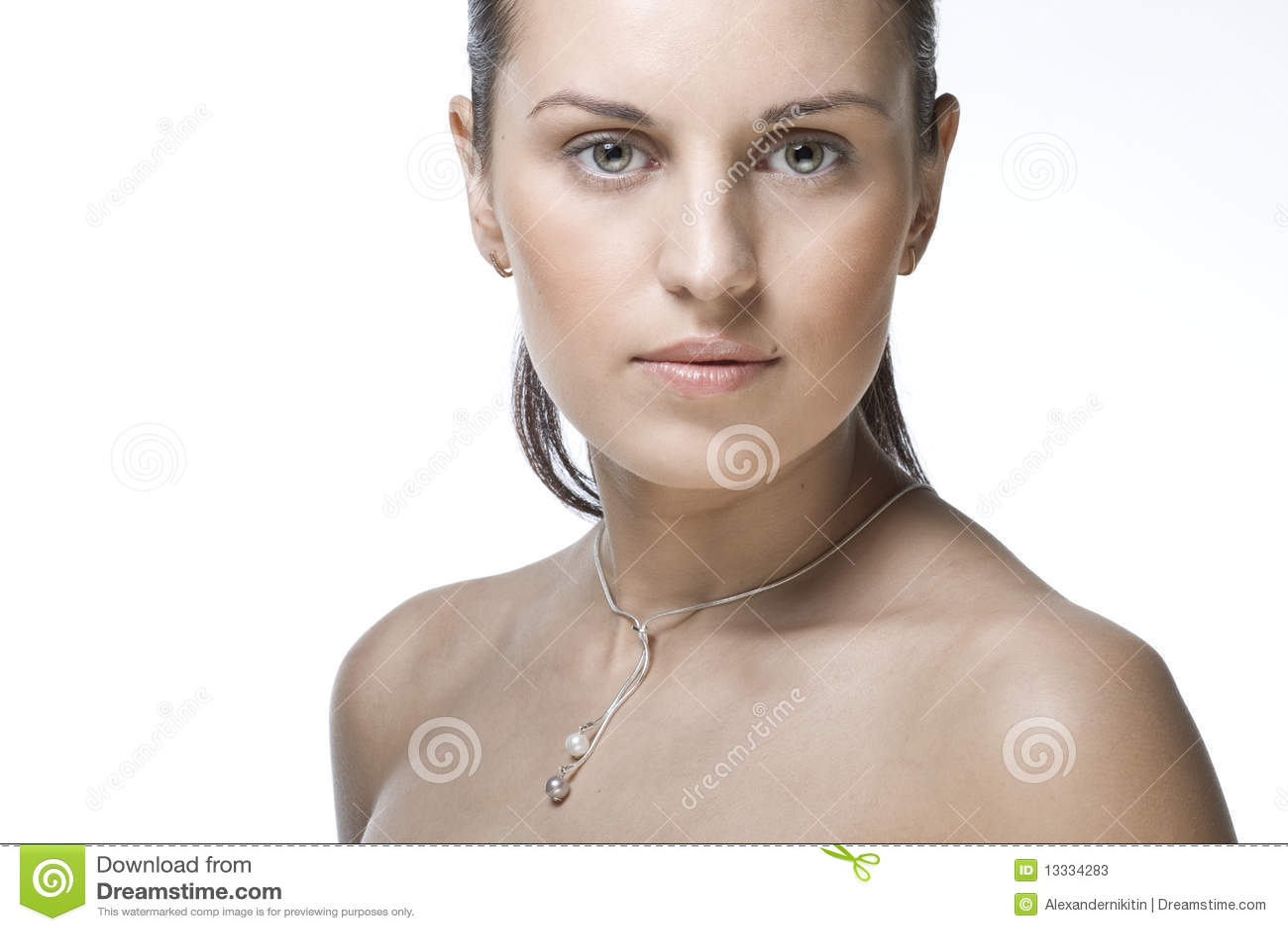 Twarzy piękna kobieta