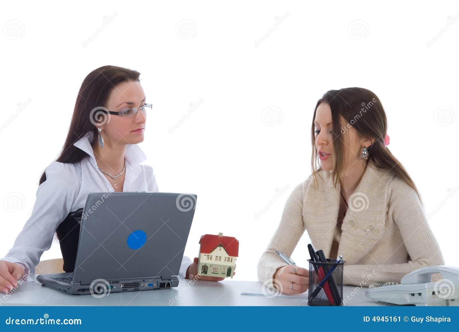 Twee bedrijfsvrouw