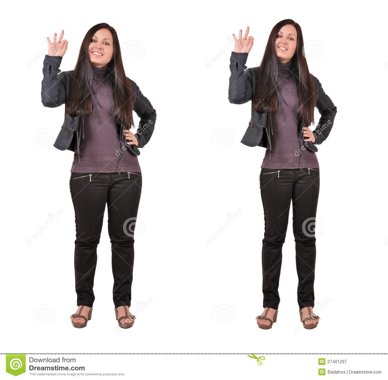 Twee Dik En Dunne Vrouwen Stock Afbeelding Afbeelding
