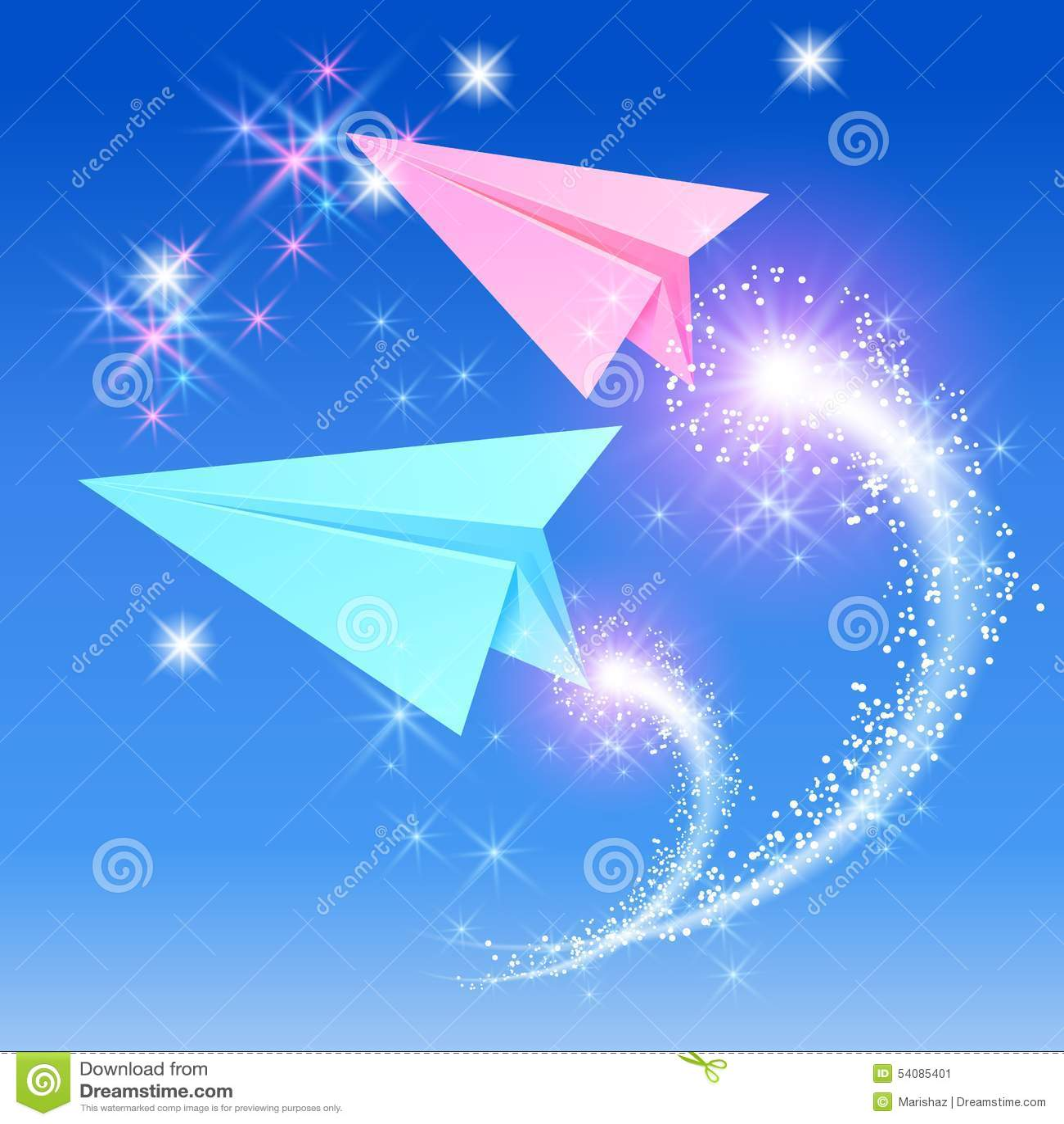 Twee document vliegtuig