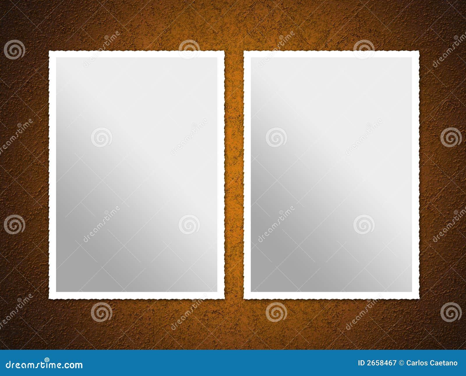 Twee Frames Van De Foto Stock Illustratie Illustratie Bestaande Uit