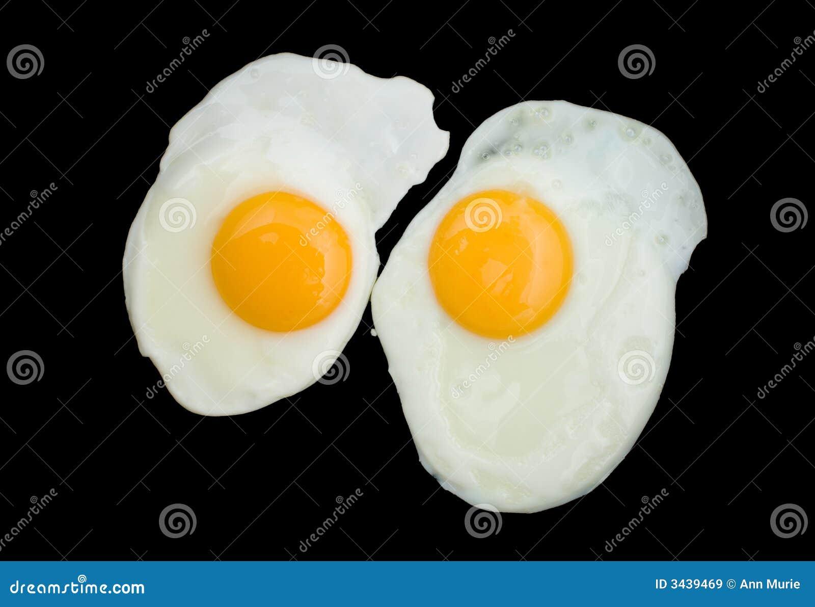 Twee Gebraden Eieren