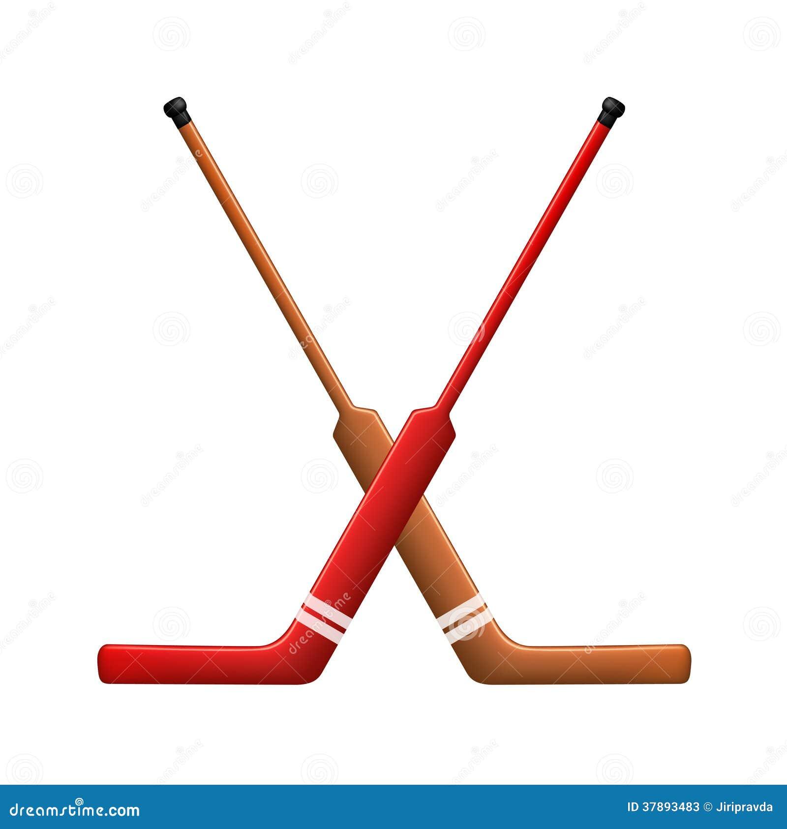 Twee gekruiste hockeystokken voor goalies