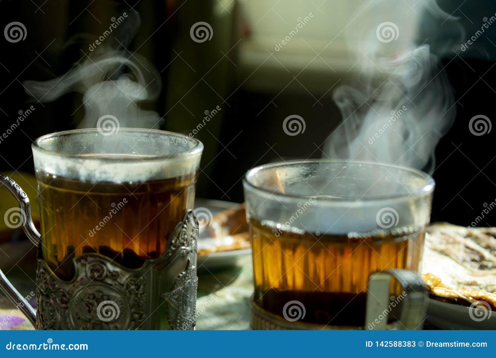 Twee glazen met Kophouders
