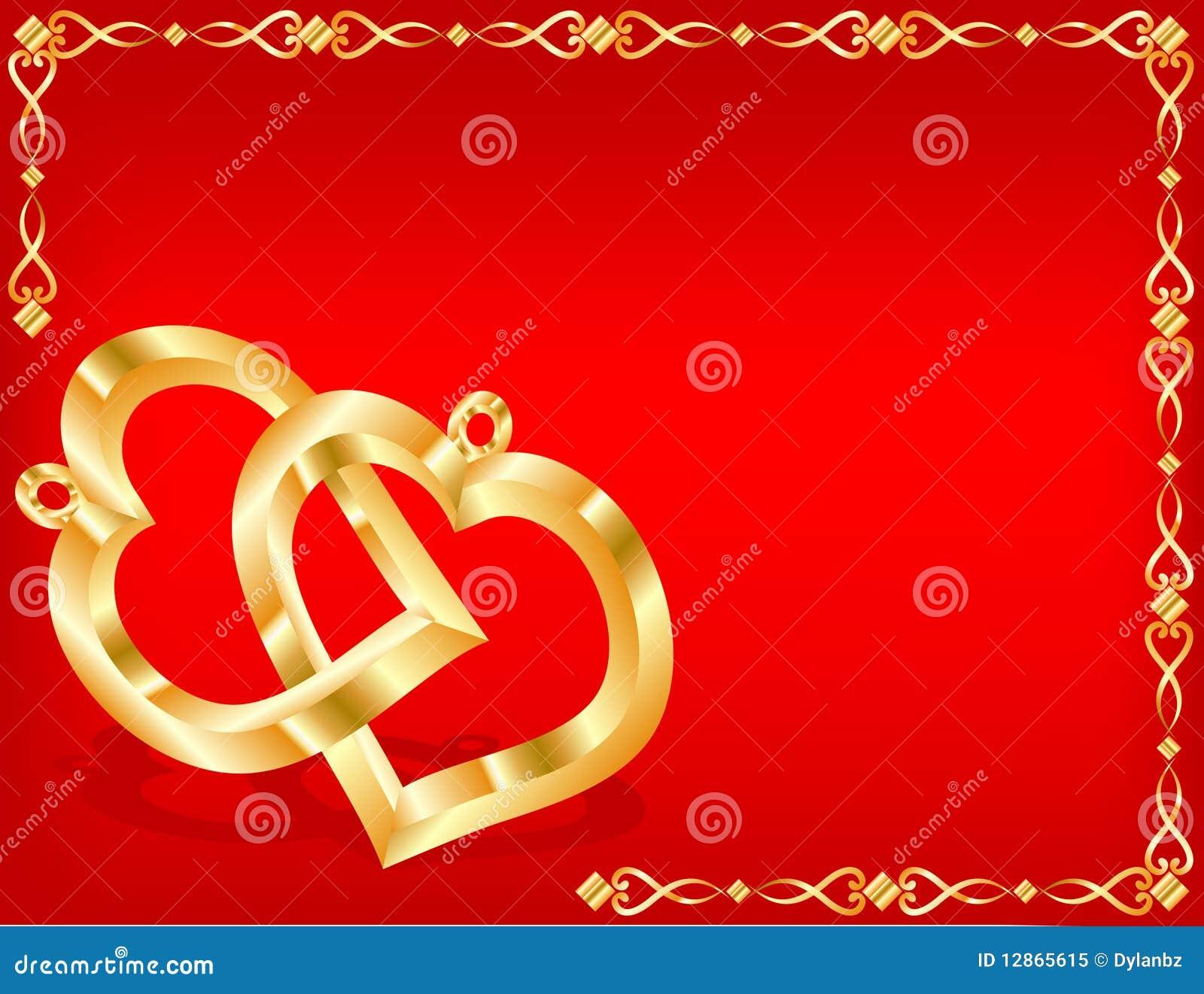 Twee gouden harten