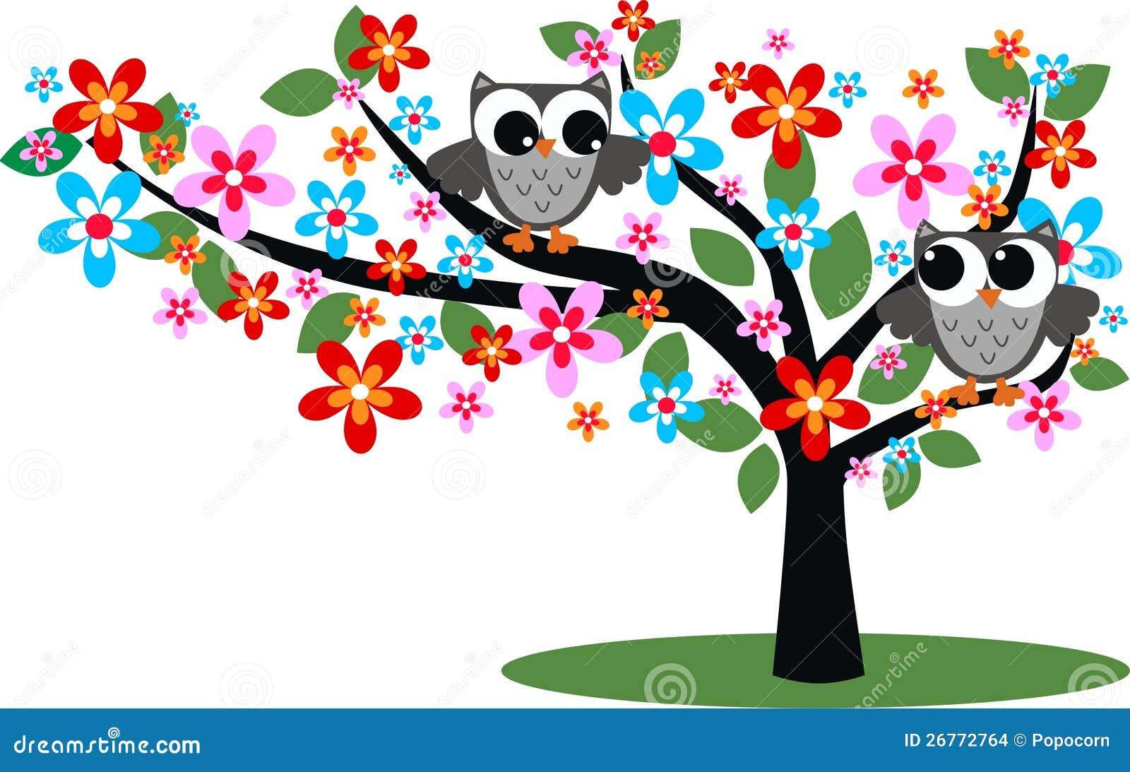 Twee grijze uilen