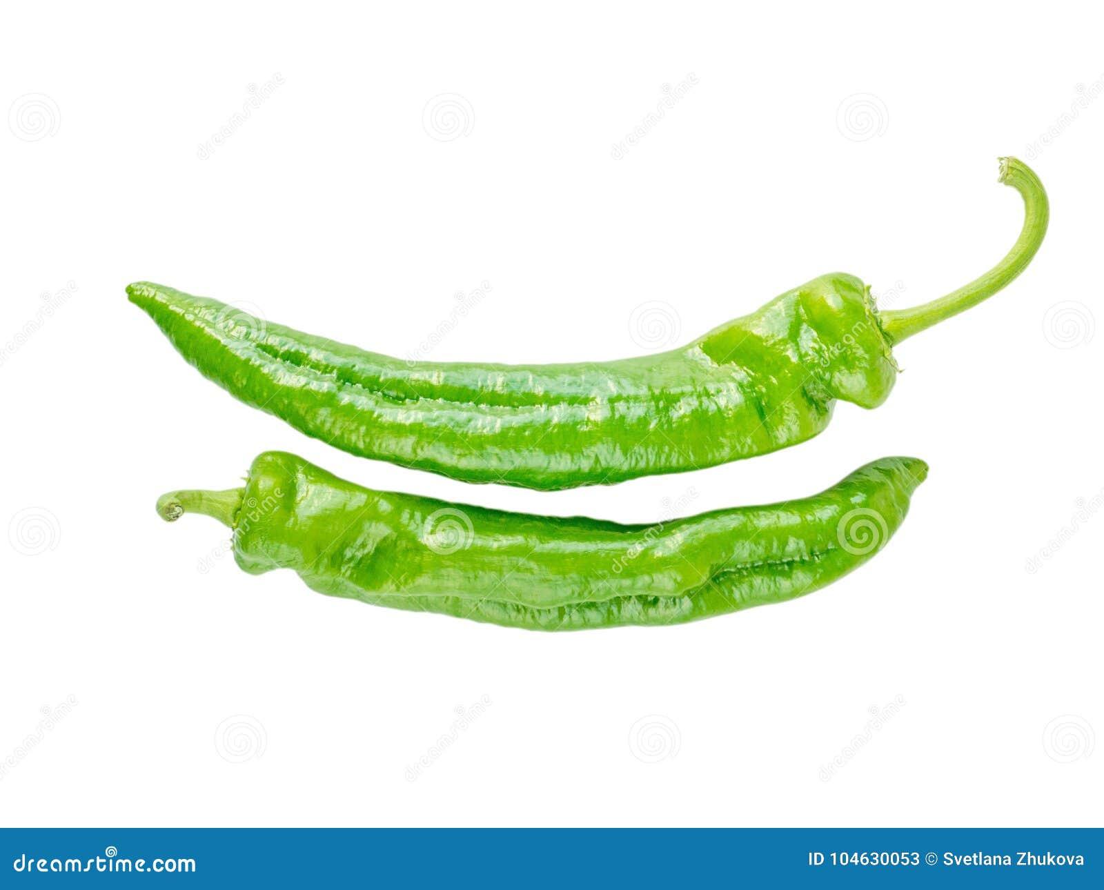 Download Twee Groene Lange Cubanelle-peper Stock Afbeelding - Afbeelding bestaande uit recept, plantaardig: 104630053