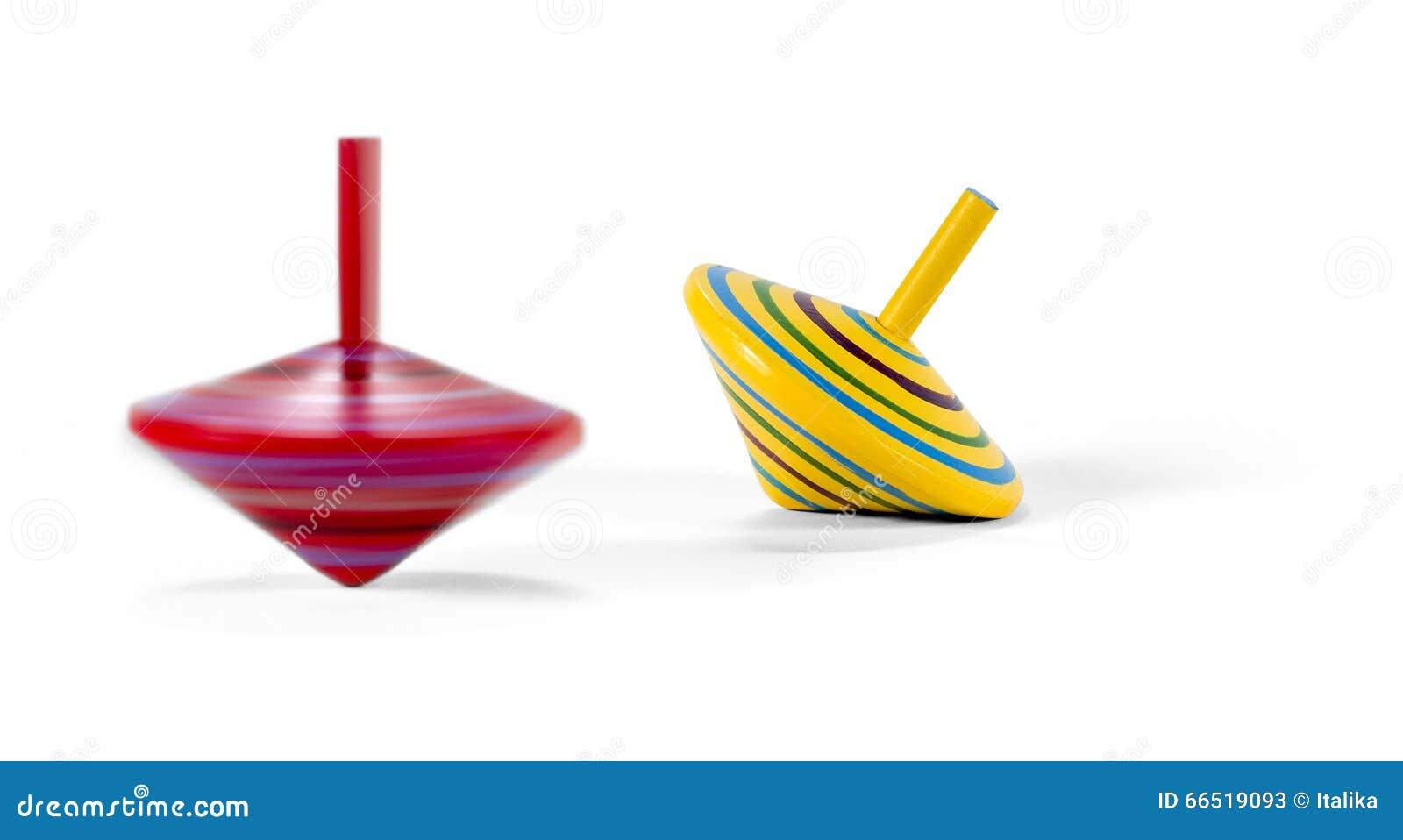 Twee houten en kleurrijke tollen stock foto afbeelding - Nuancier tollens en ligne ...