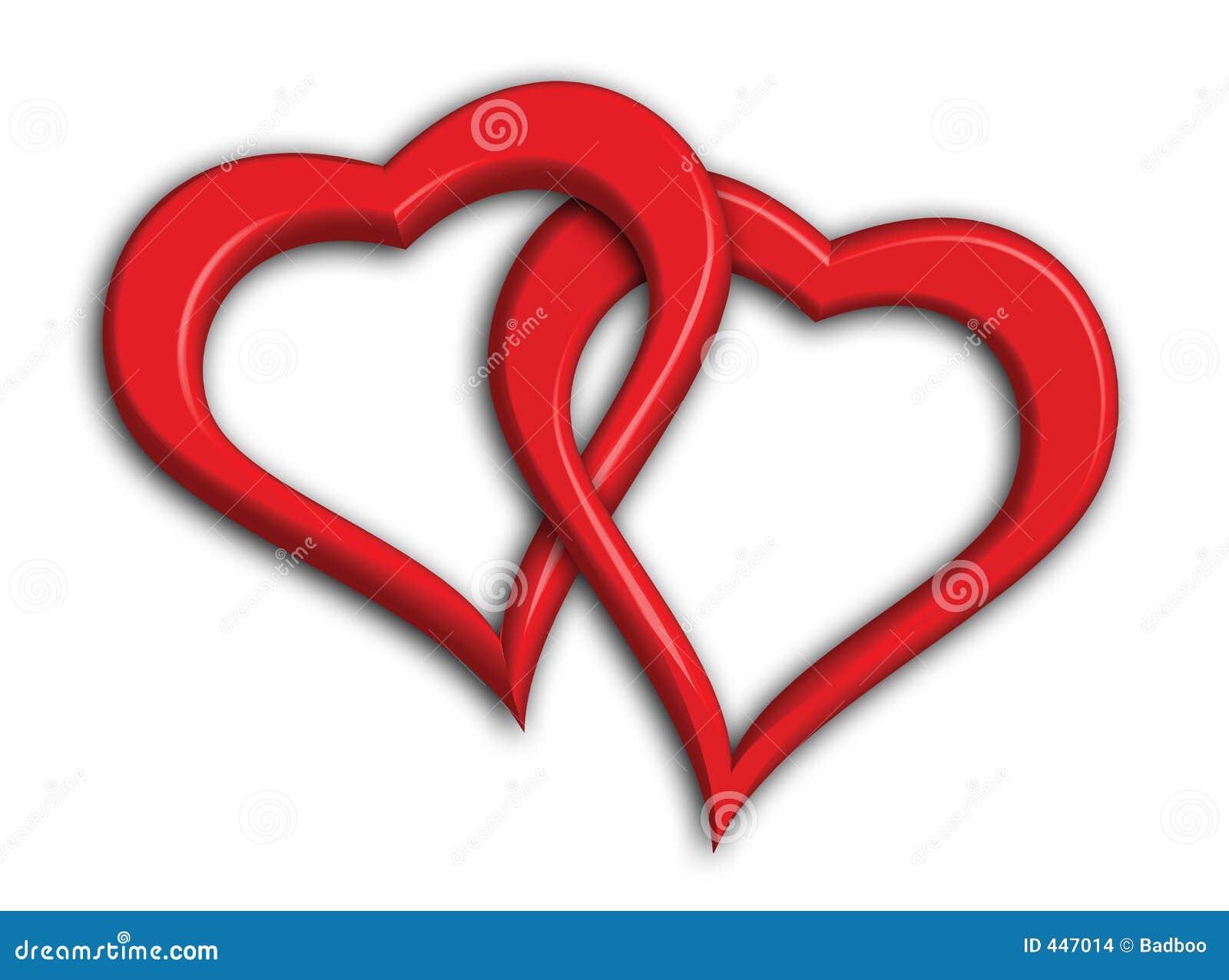 Twee ineengestrengelde harten