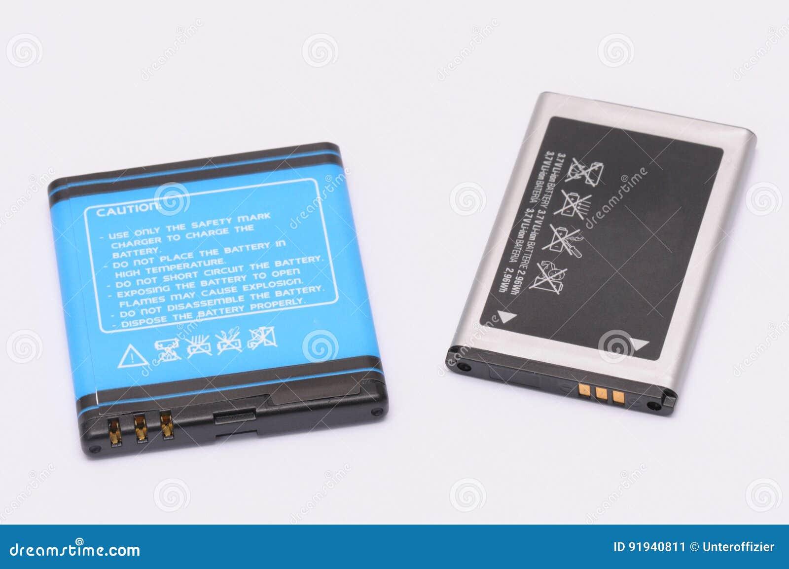 Twee lithium-ionenbatterijen