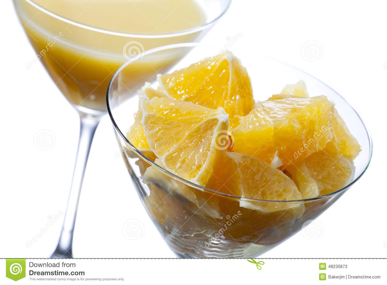 Twee martini-glas met jus d orange
