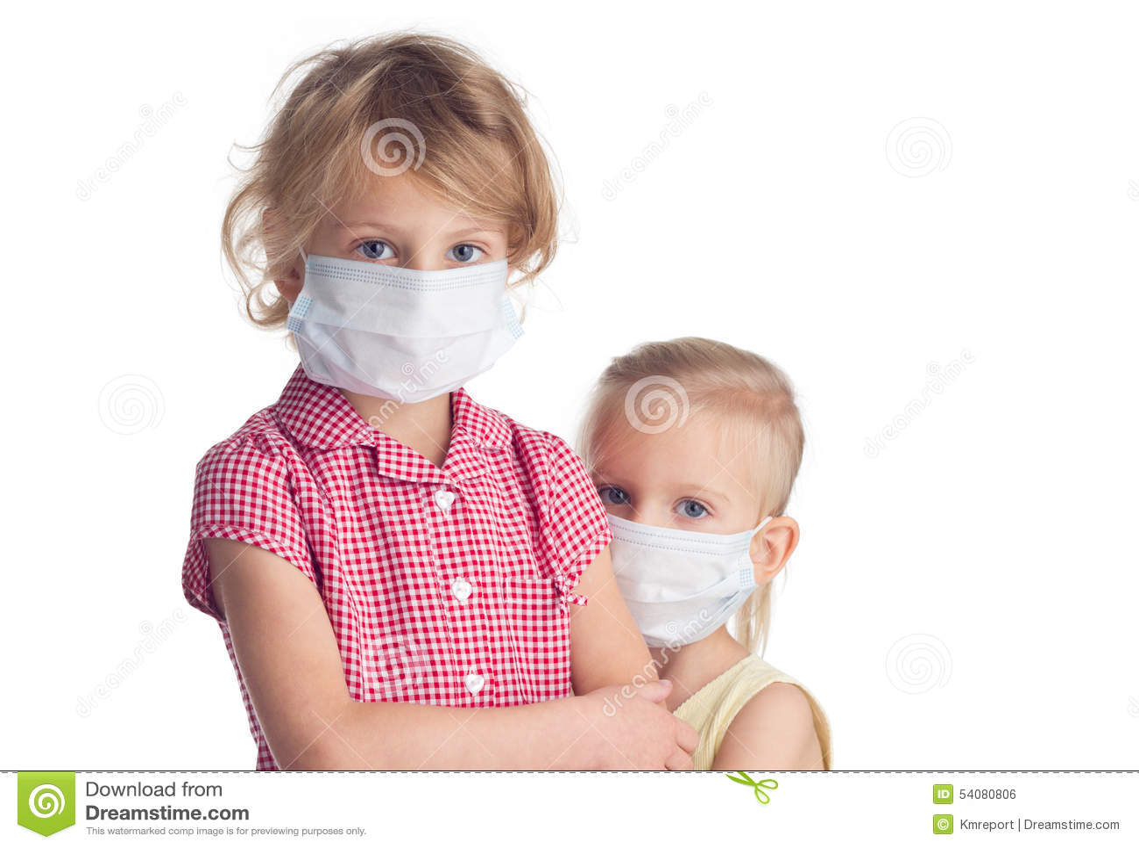Twee meisjes in fase maskeren