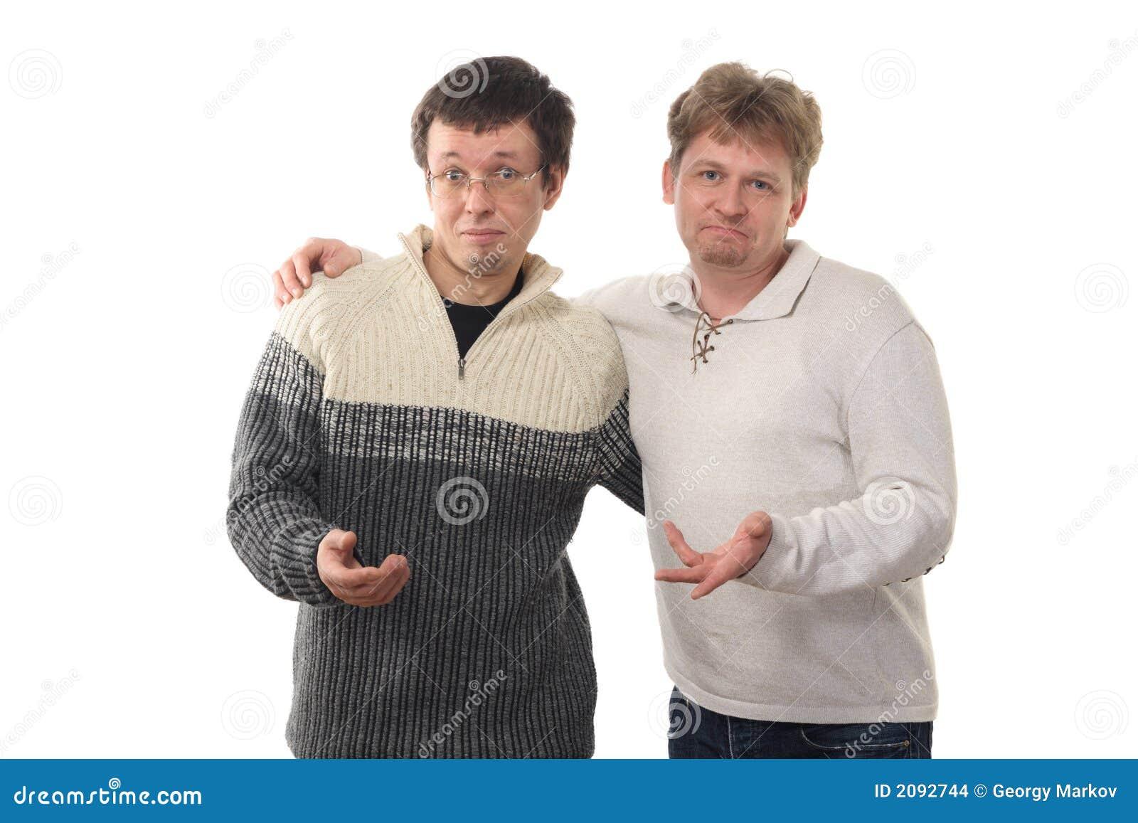 Twee mensen die handen standhouden
