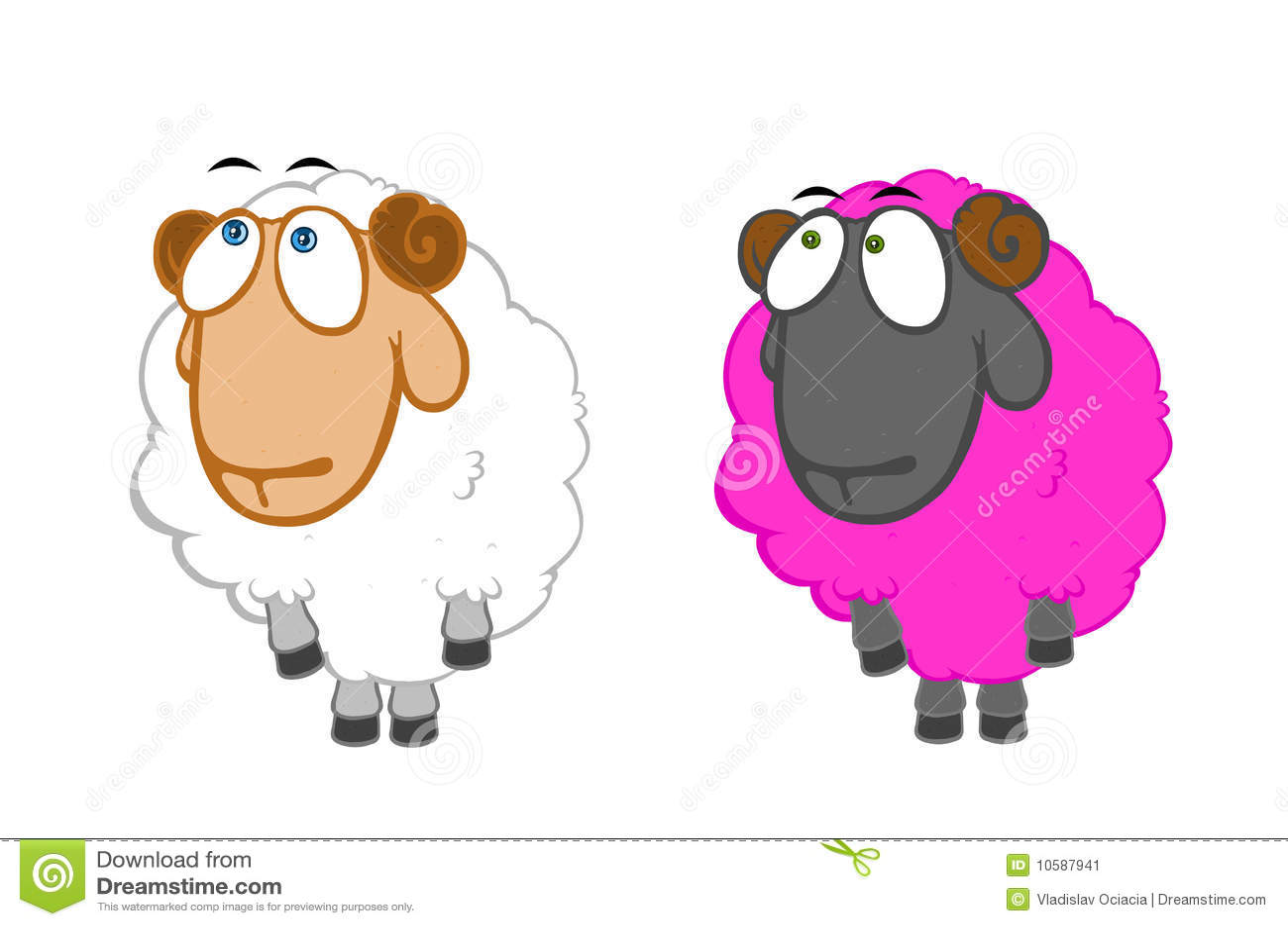 Twee onschuldige schapen