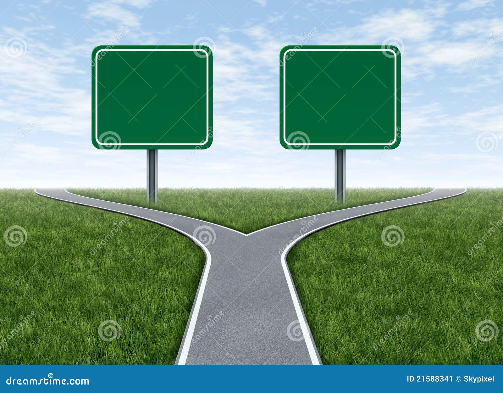 Twee opties met lege verkeersteken