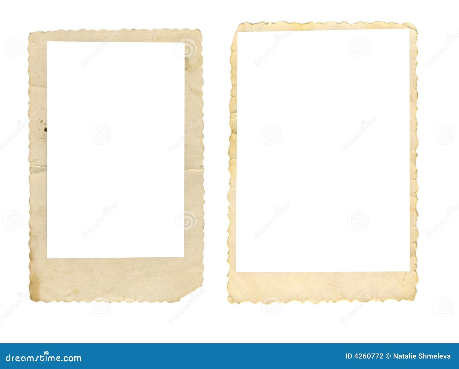 Twee oude fotoframes