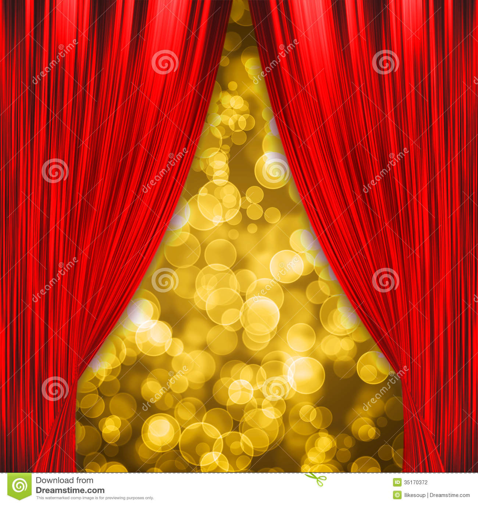 twee rode gordijnen die de show openen