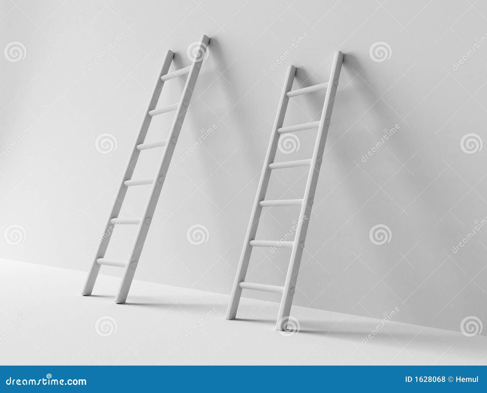 Twee trappen die naast muur kosten verwerpen 3d schaduw for Huis trappen prijzen
