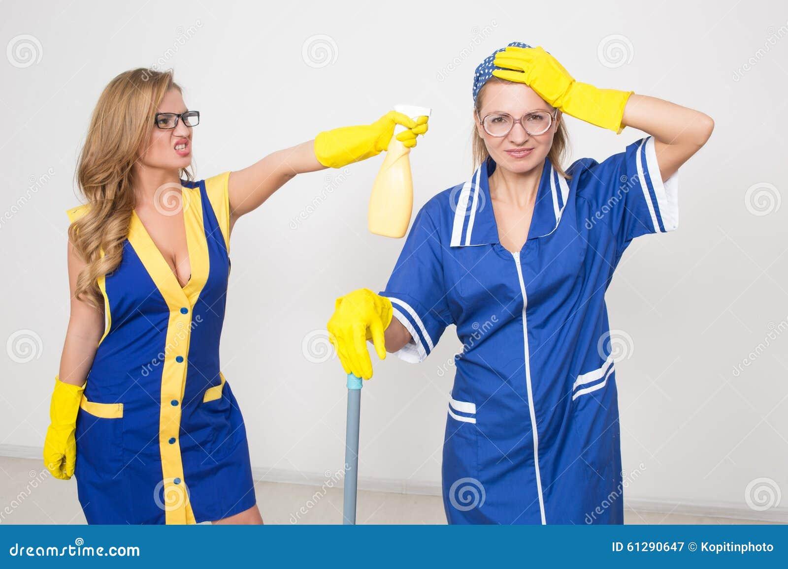 Twee verschillende reinigingsmachines concurreren slecht personeel