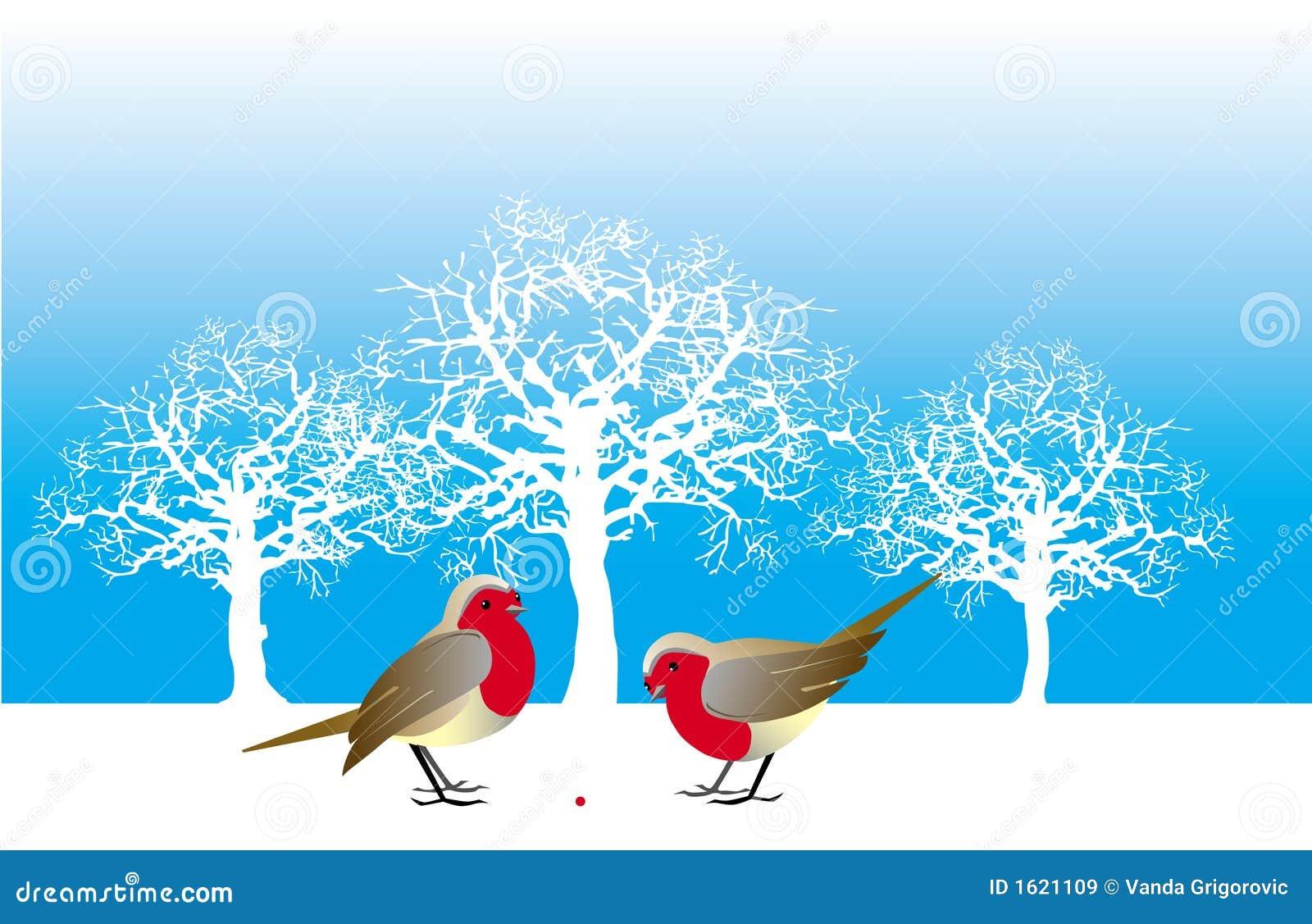 Twee vogels en een bes