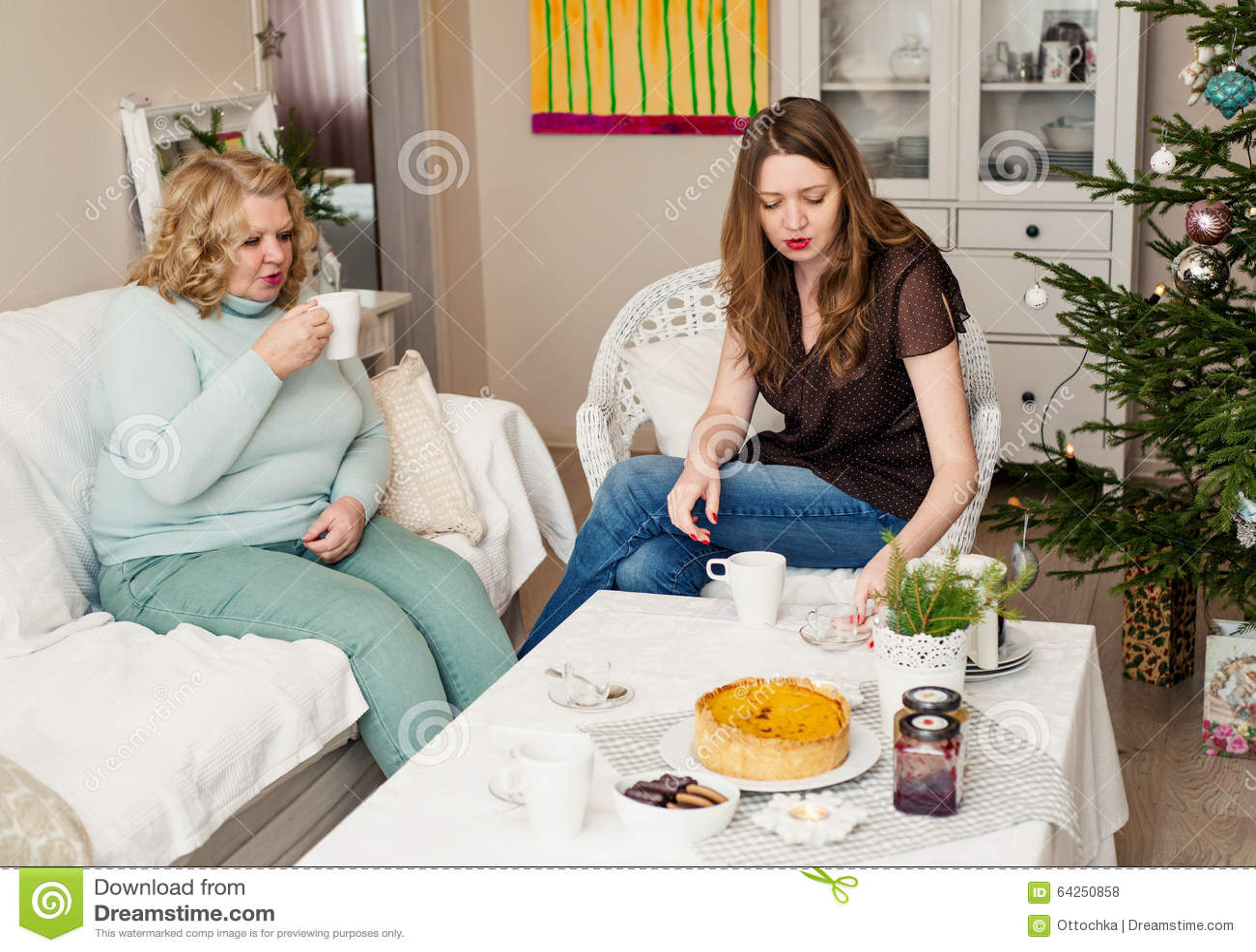 Familie twee beffende vrouwen
