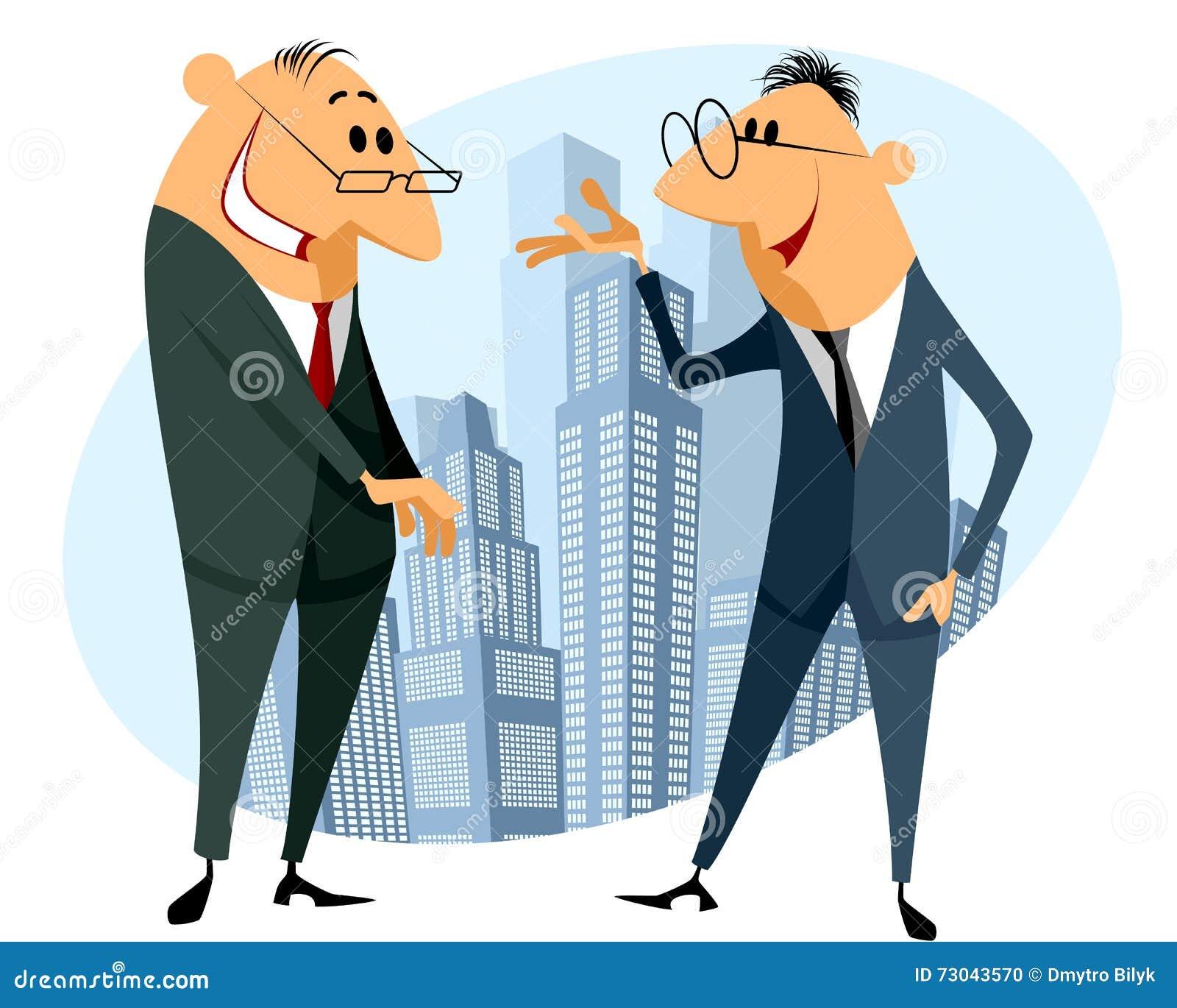 Twee zakenliedenbespreking