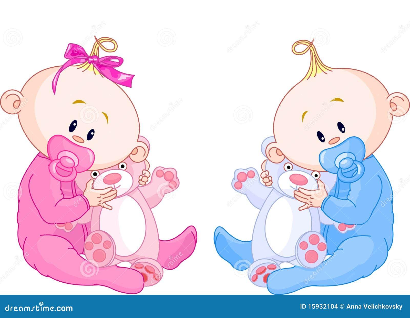 Tweeling babys vector illustratie afbeelding bestaande uit zoet 15932104 - Baby boy versiering van de zaal ...