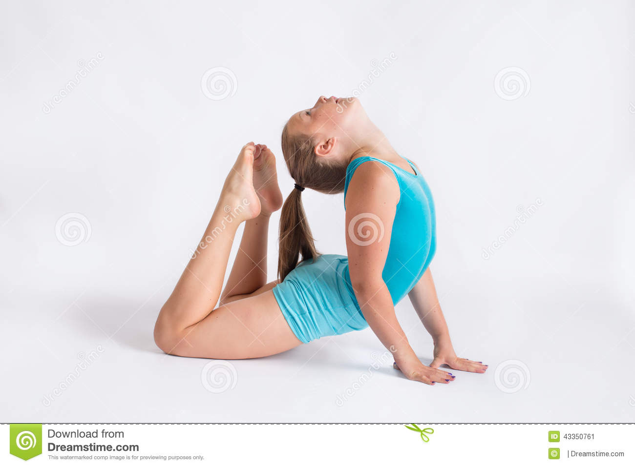 Tween Girl Doing Yoga Pose Stock Photo - Image 43350761-6575