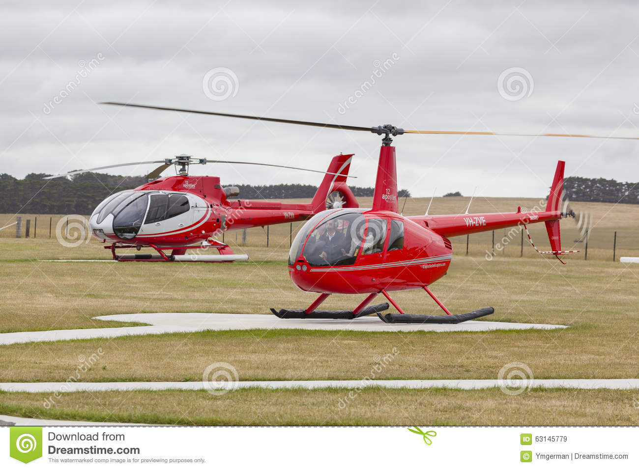 Twelve Apostles Helicopter Scenic Flight Editorial Stock Image  Image 63145779