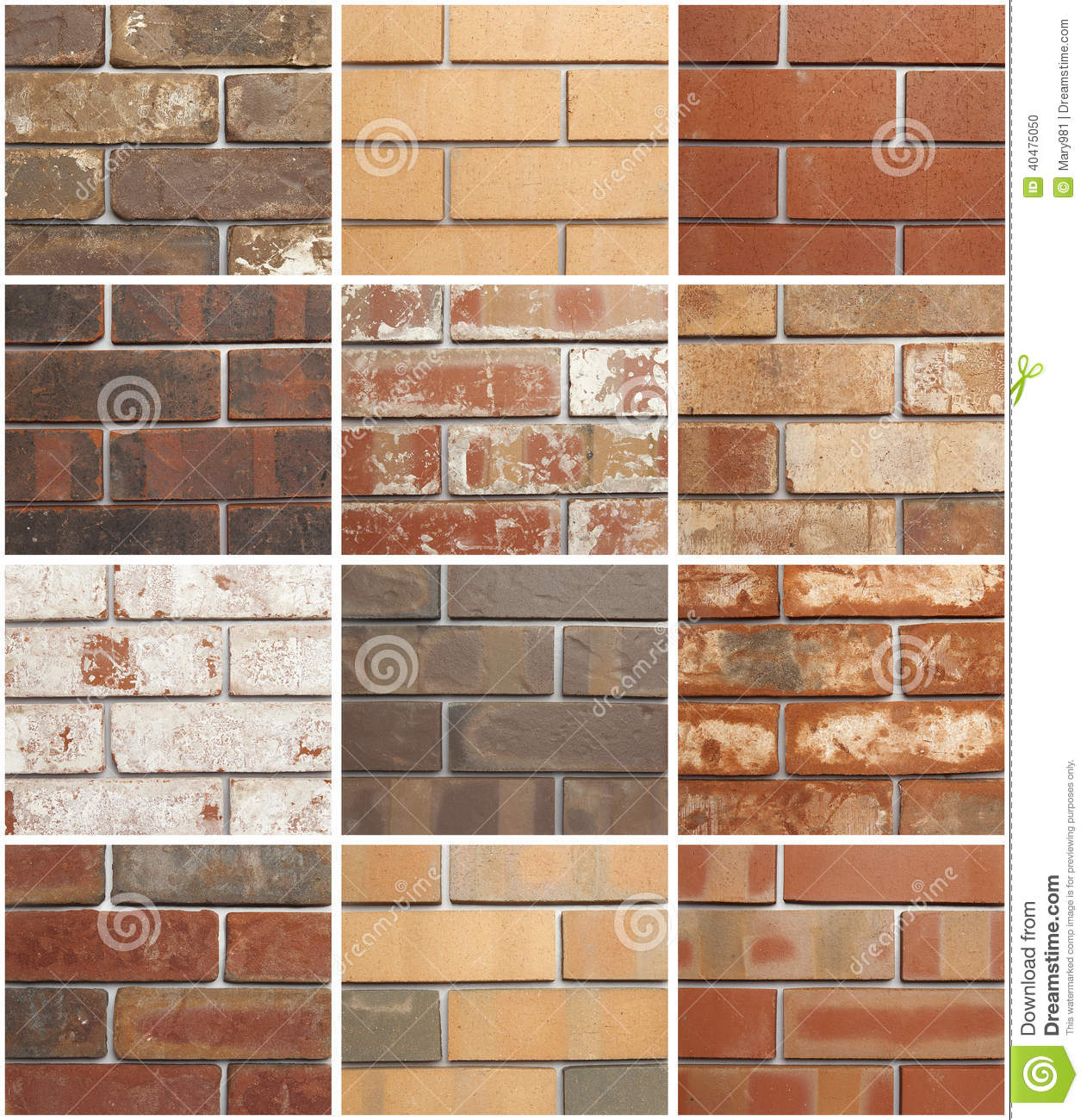 twelve brick variations stock photo image 40475050