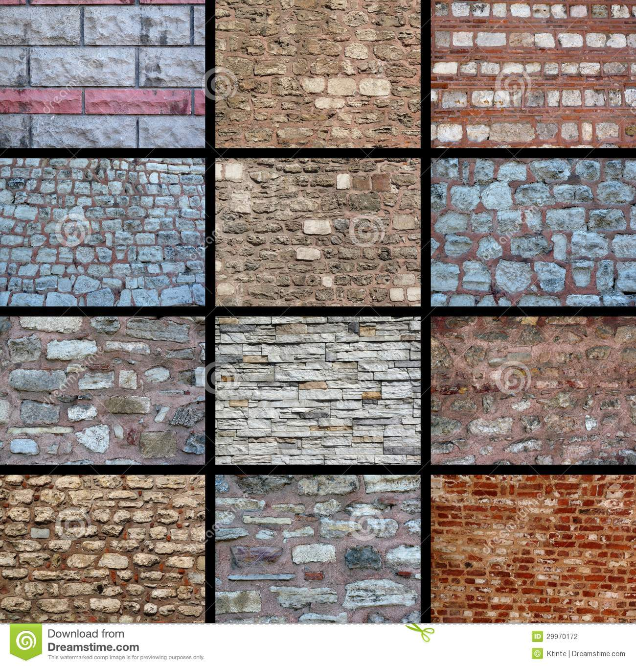 A Variety Of Wall Textures Stock Photography Image 29970172