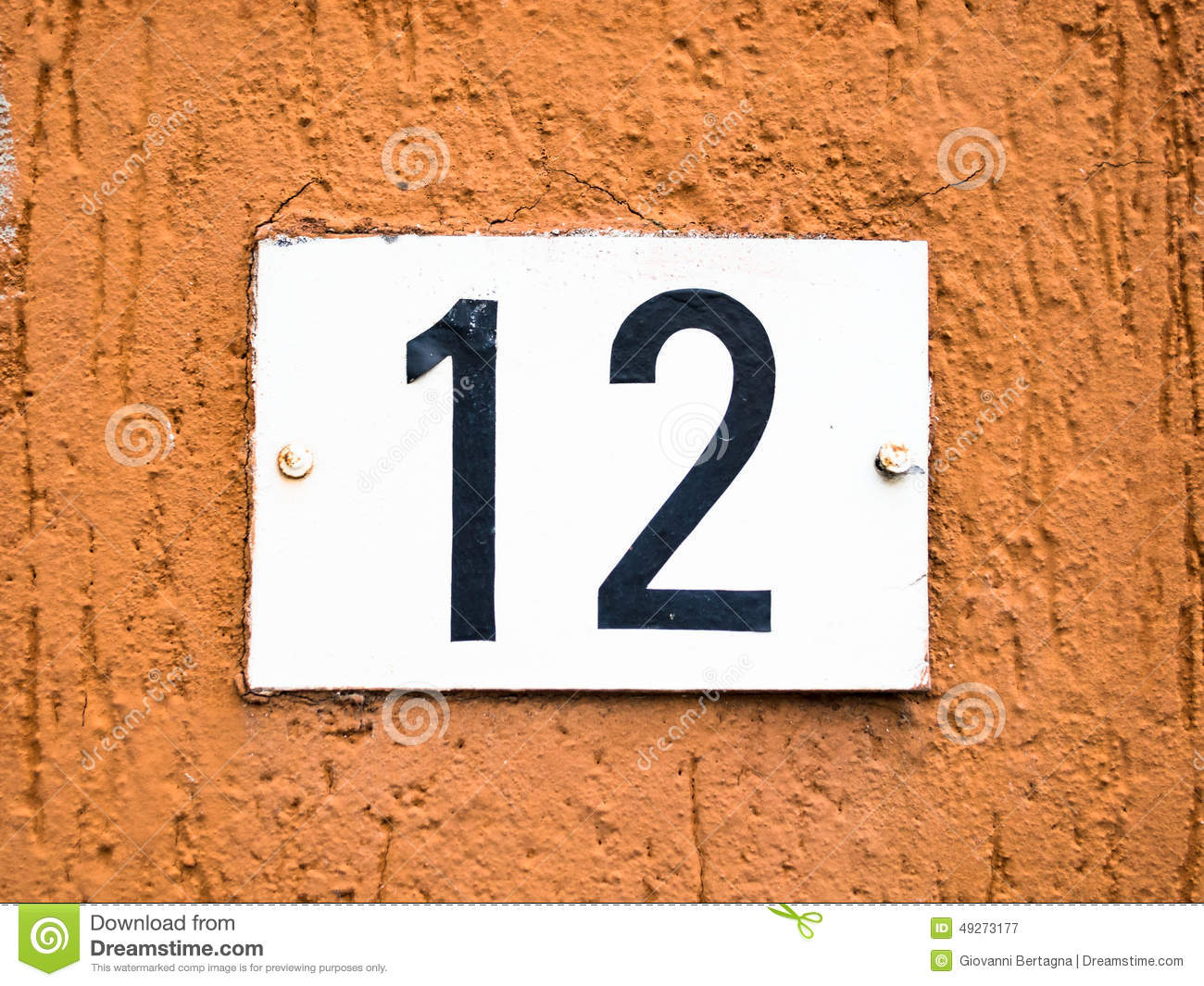 twelve 12 number stock photo